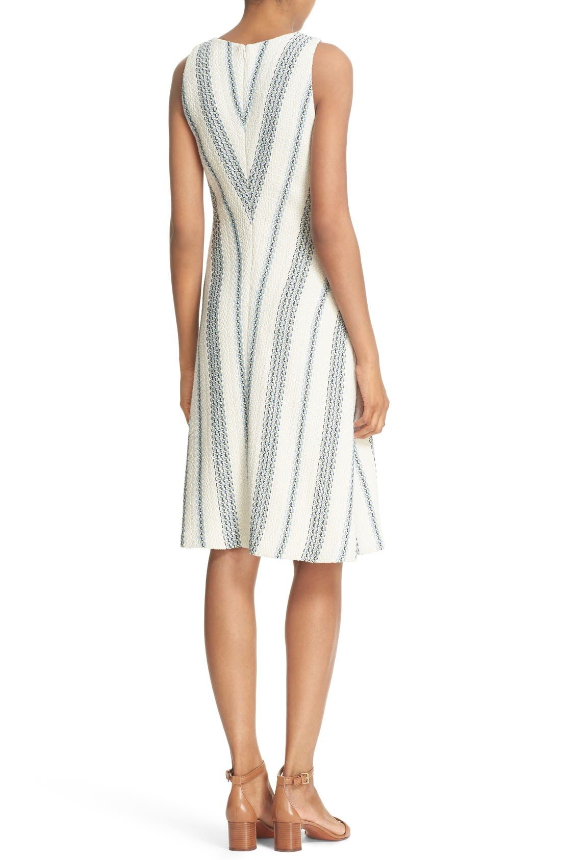 Alternate Image 2  - Tory Burch 'Stacey' Stripe Tweed A-Line Dress