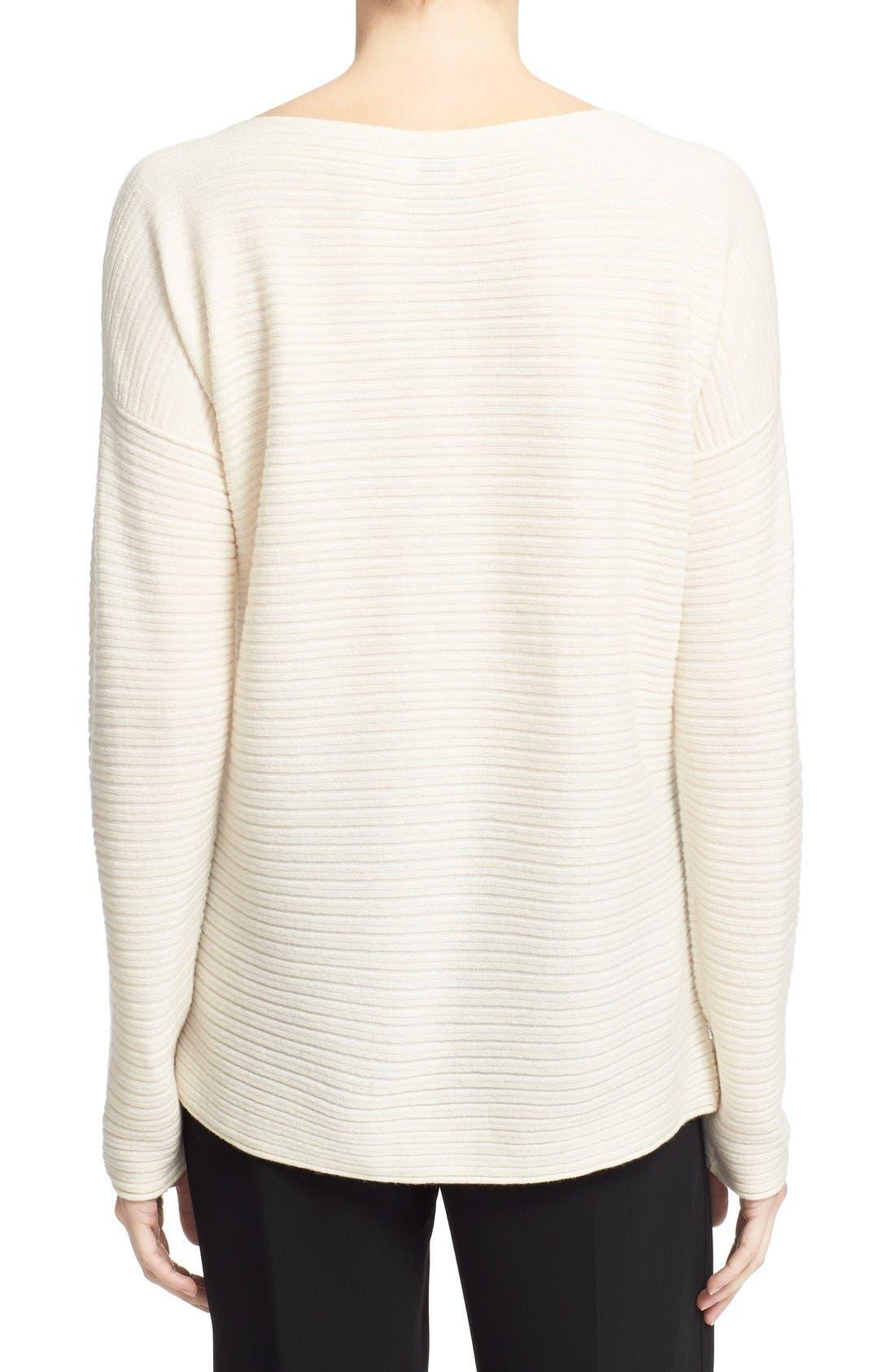 Alternate Image 2  - Vince Boatneck Horizontal Rib Cashmere Sweater