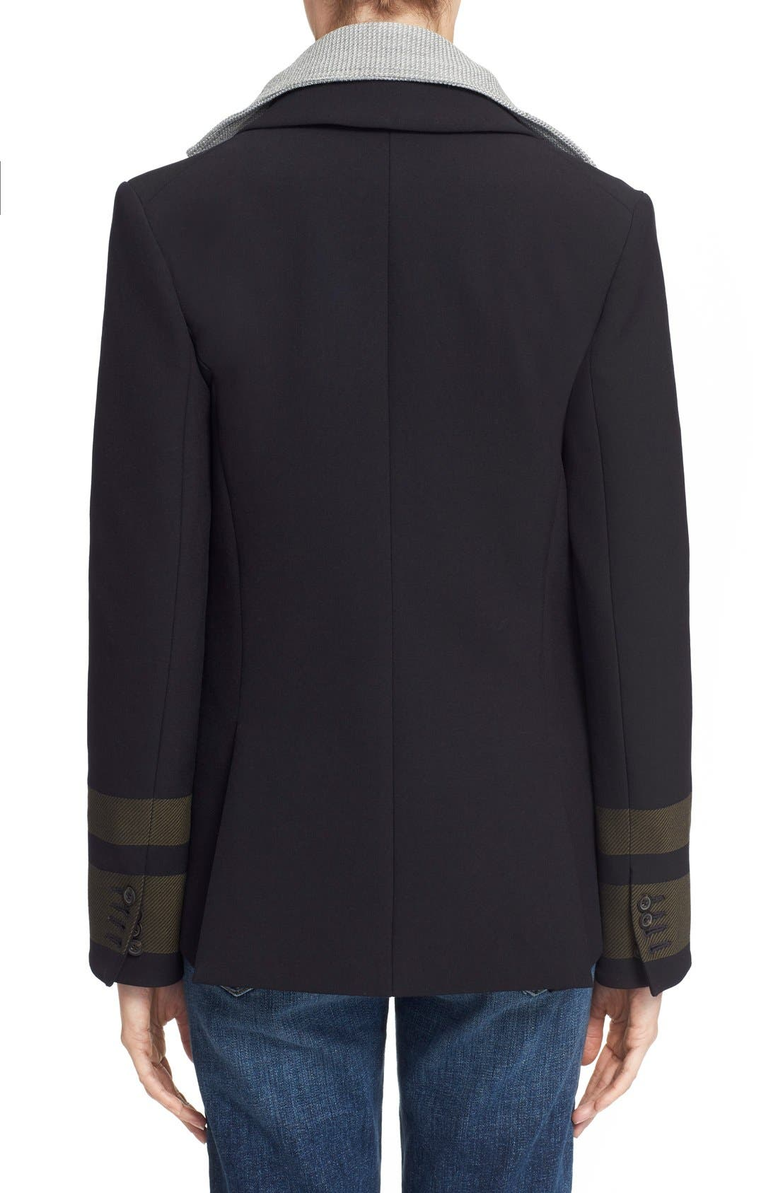 Alternate Image 3  - Veronica Beard Cutaway Jacket with Removable Knit Dickey