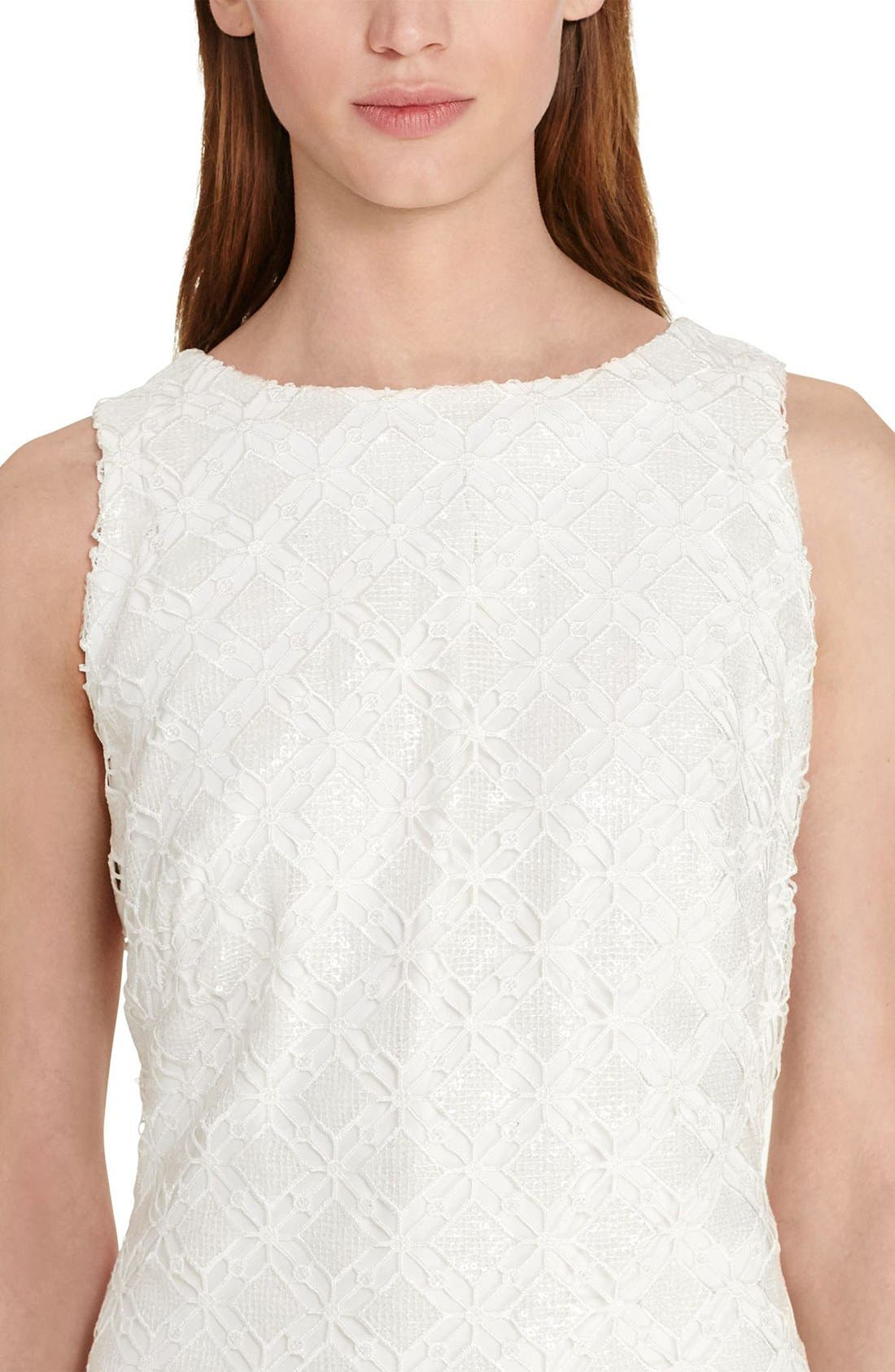 Alternate Image 3  - Lauren Ralph Lauren Lace Sheath Dress