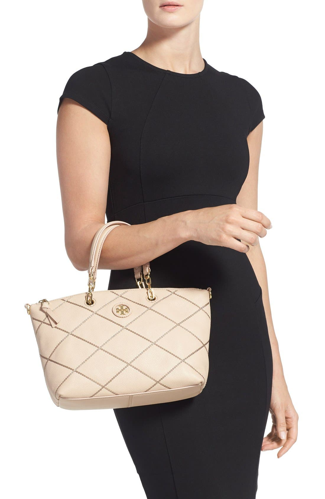Alternate Image 2  - Tory Burch 'Small Stitch' Leather Satchel (Nordstrom Exclusive)