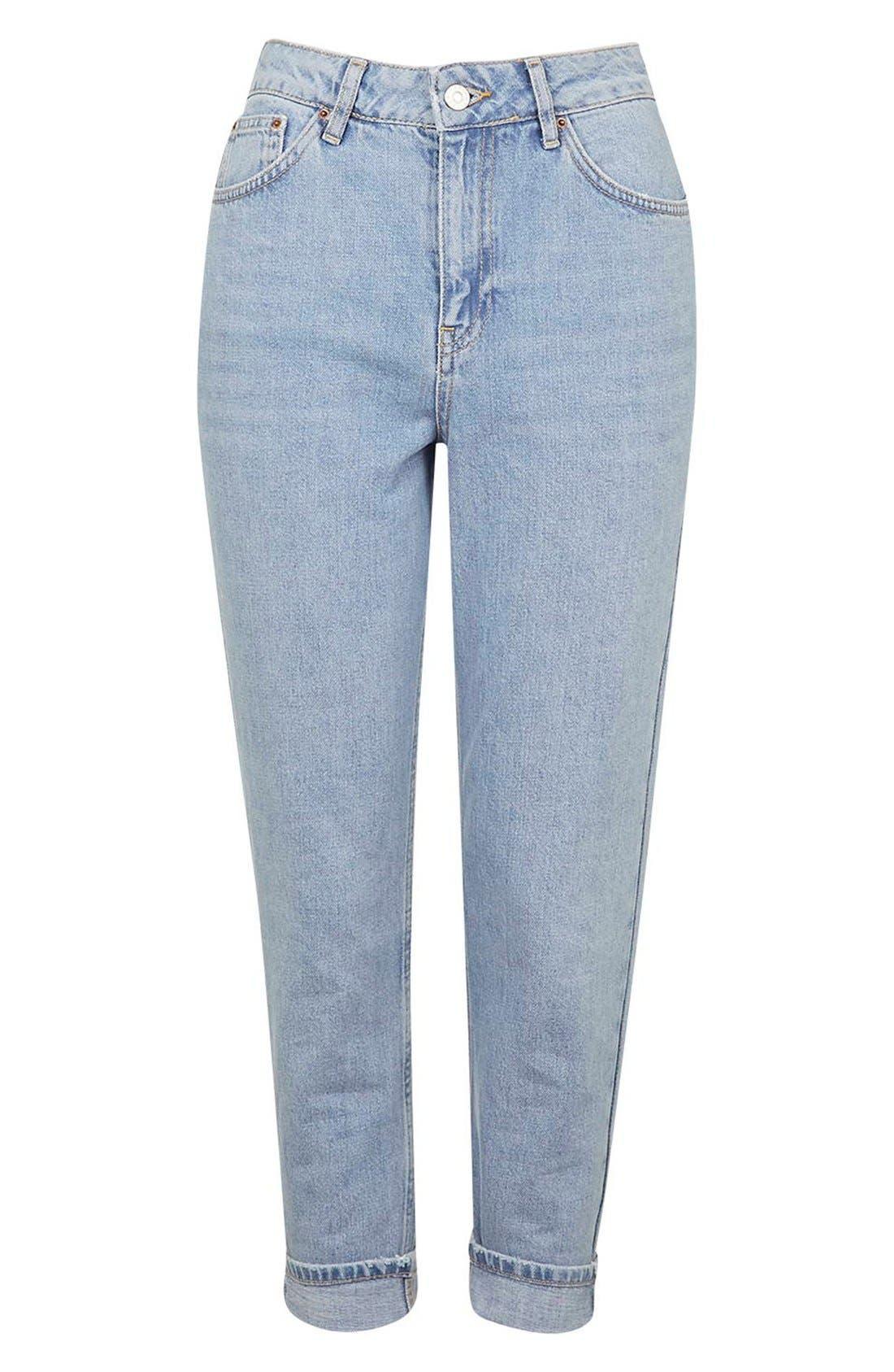 Alternate Image 4  - Topshop Mom Jeans (Lilac) (Petite)