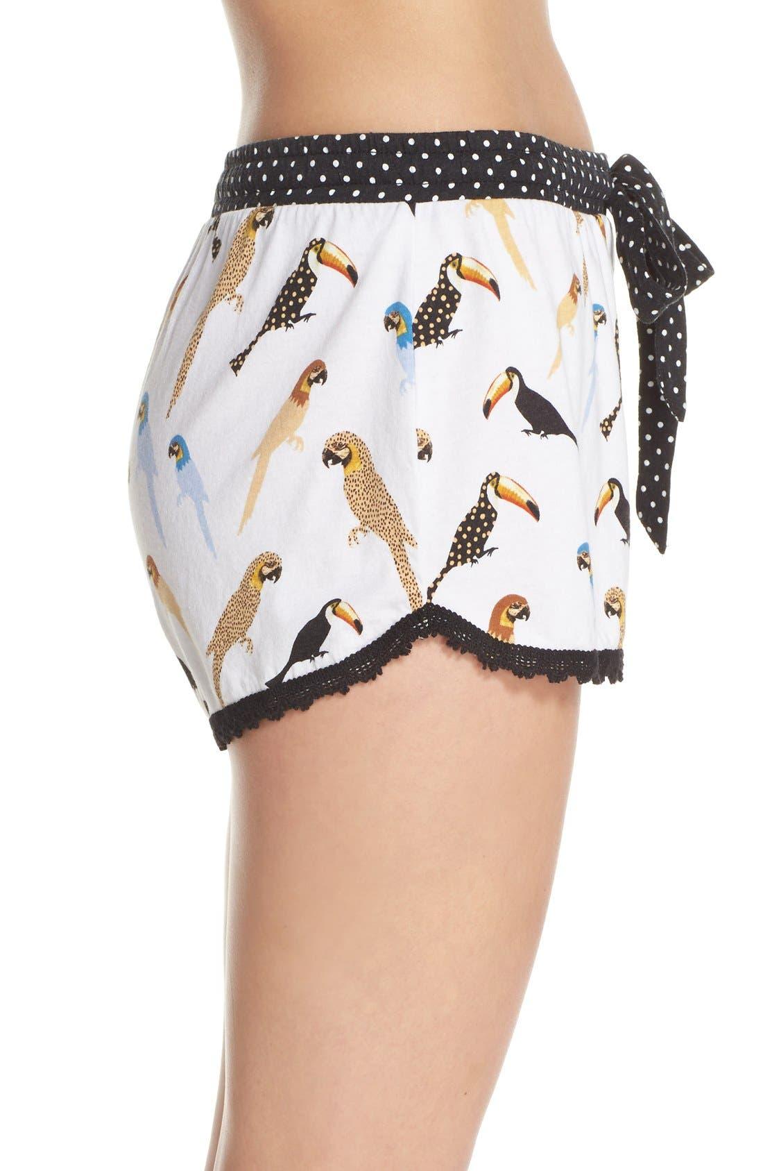 Alternate Image 3  - PJ Salvage Bird Print Pajama Shorts