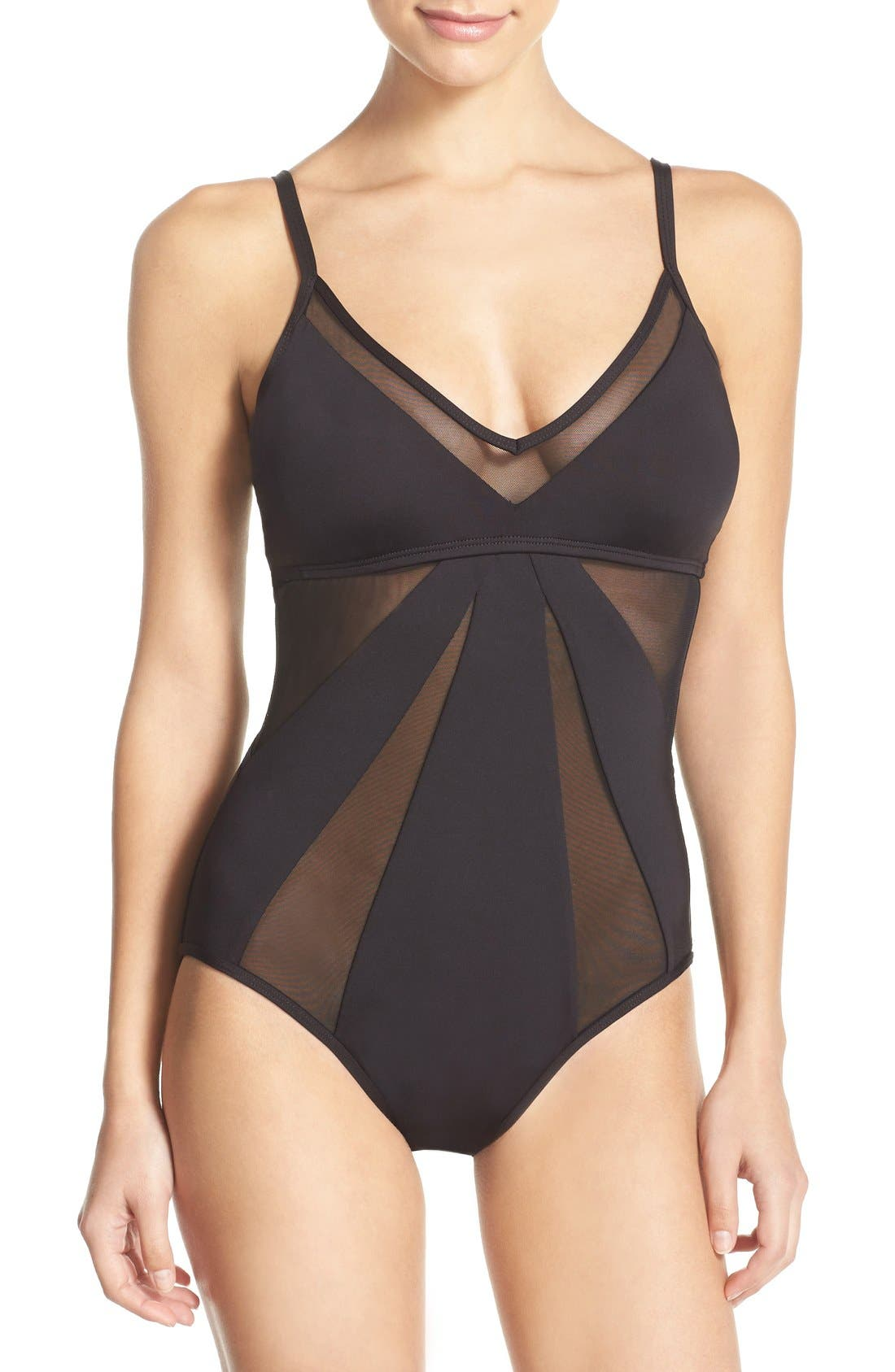 KENNETH COLE NEW YORK 'Sheer Satisfaction' One-Piece Swimsuit