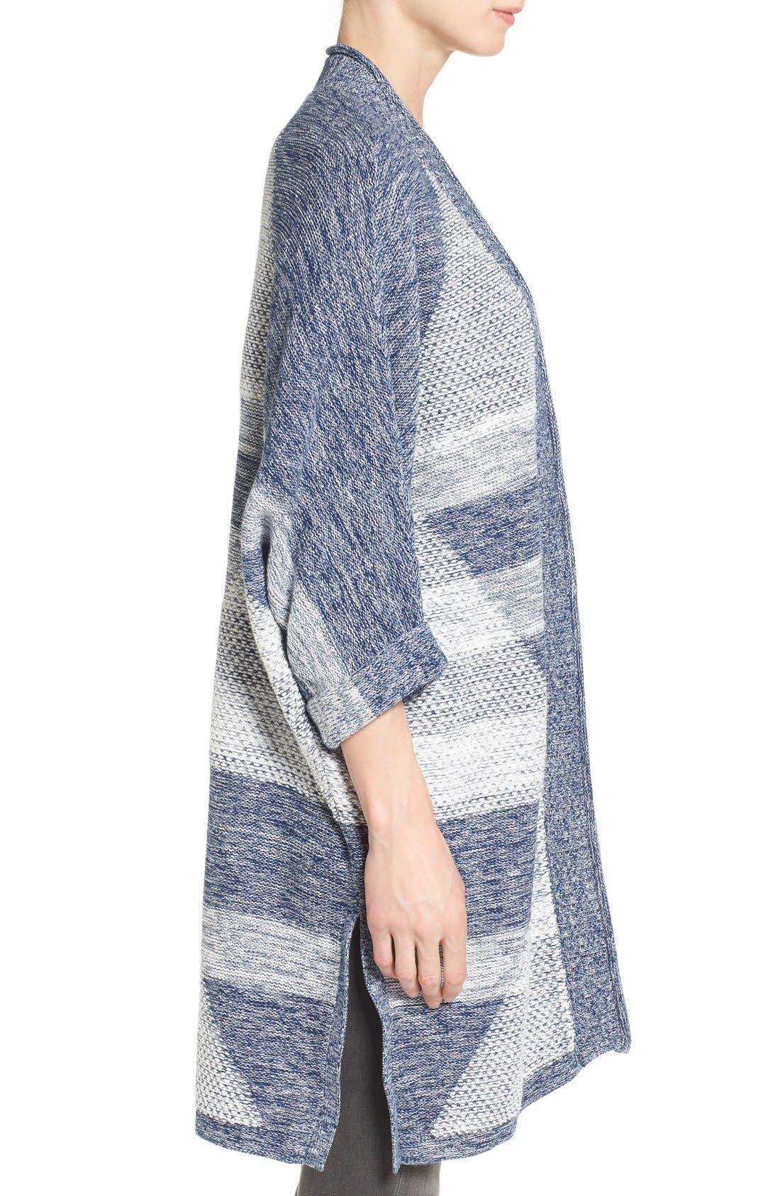 Alternate Image 3  - Caslon® Cuffed Sleeve Long Cardigan