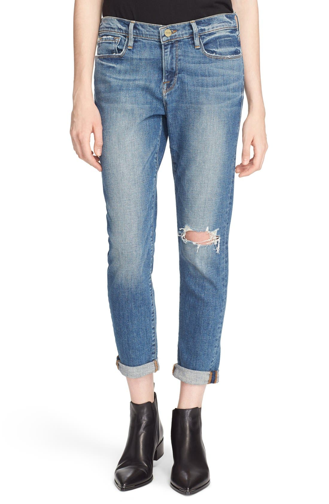 Alternate Image 1 Selected - FRAME Le Garçon Boyfriend Jeans (Copper)