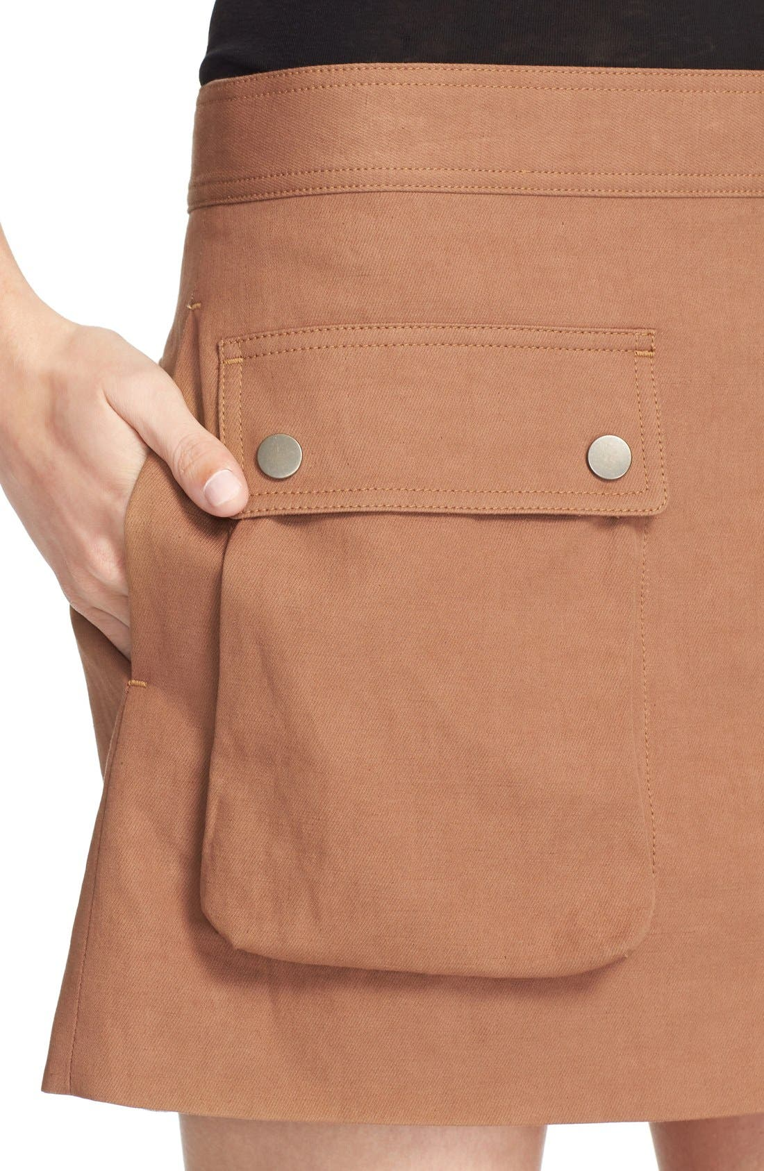 Alternate Image 5  - Helmut Lang Double Pocket Miniskirt