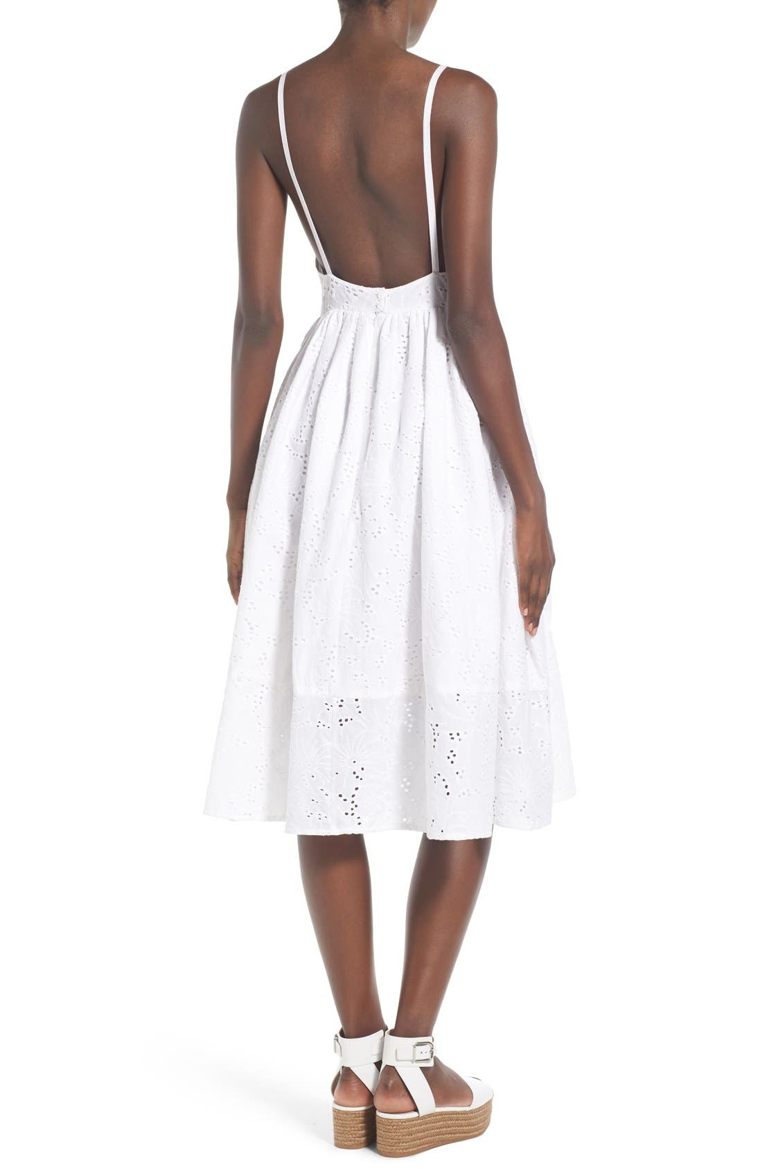 Alternate Image 2  - Rachel Antonoff 'Melissa' Cotton Eyelet Fit & Flare Dress