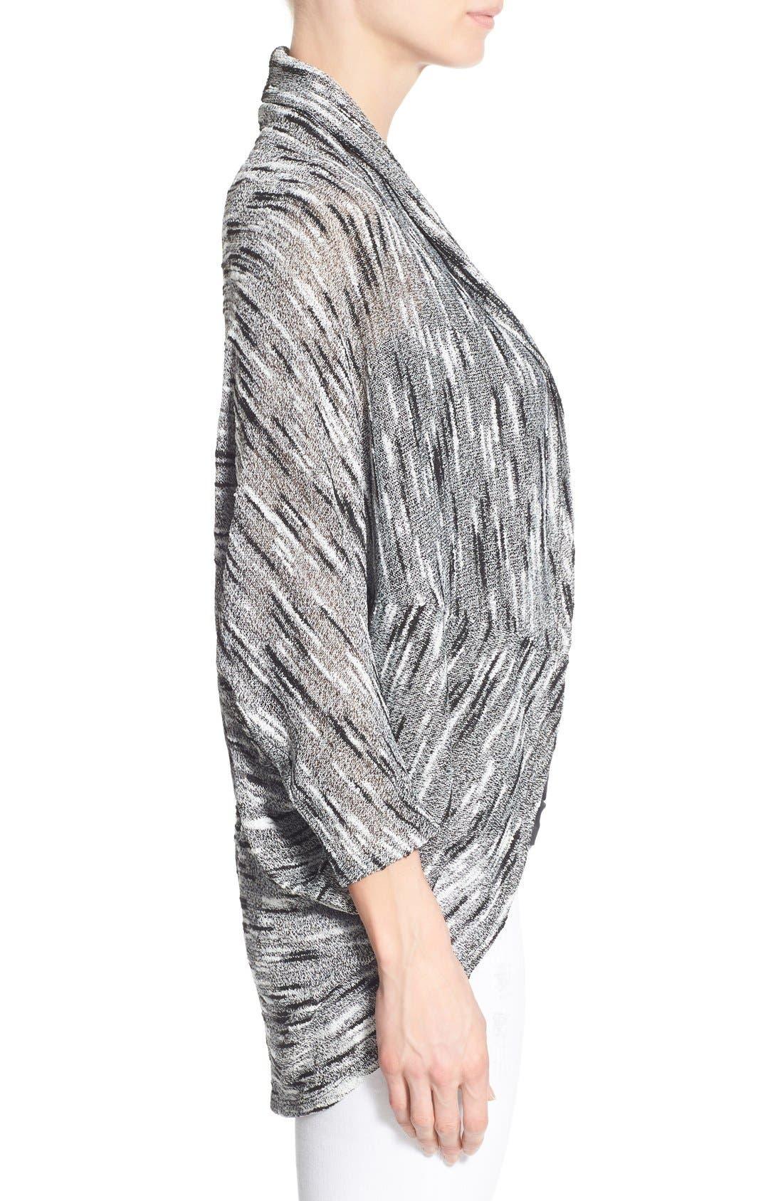 Alternate Image 3  - Chaus Dolman Sleeve Oval Cut Cardigan