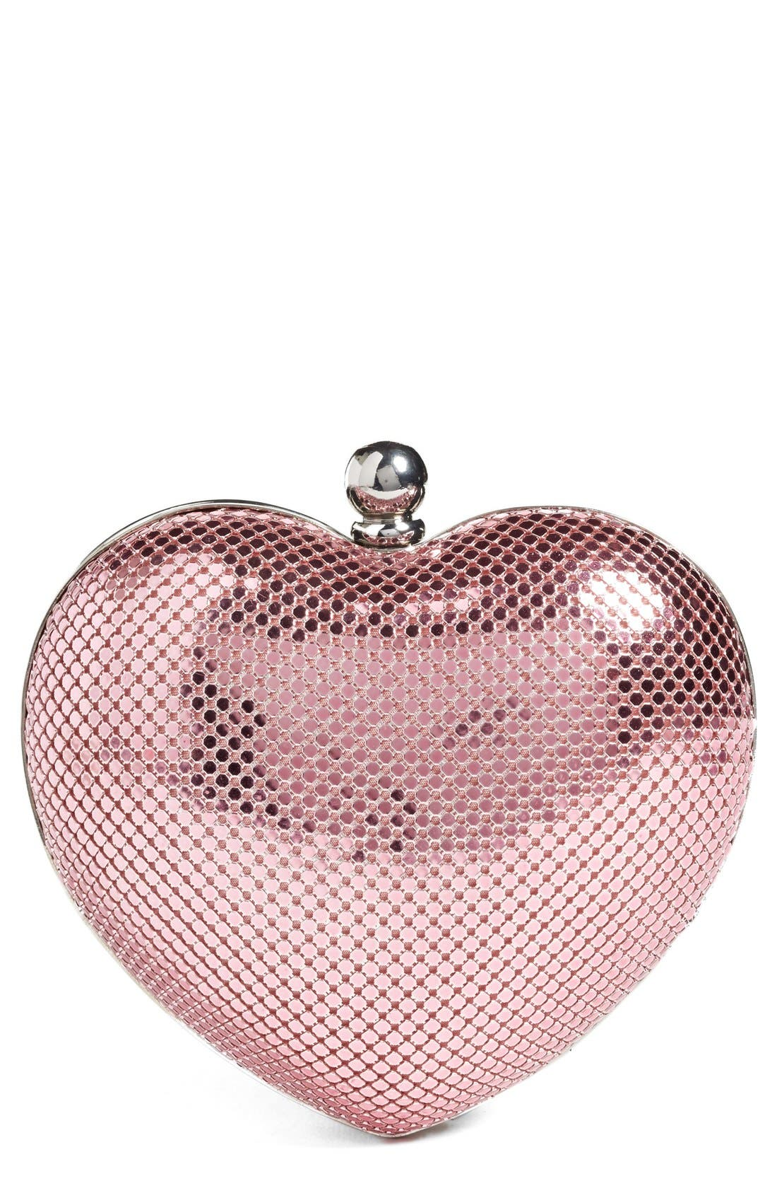 WHITING & DAVIS 'Charity Heart' Minaudière