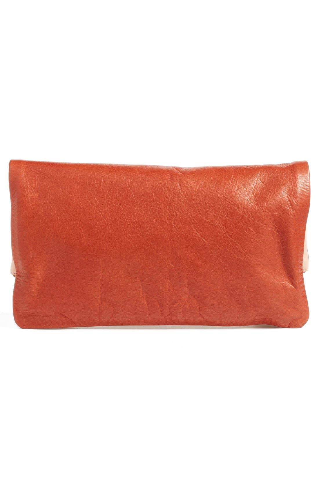 Alternate Image 3  - Clare V. Colorblock Leather Foldover Clutch