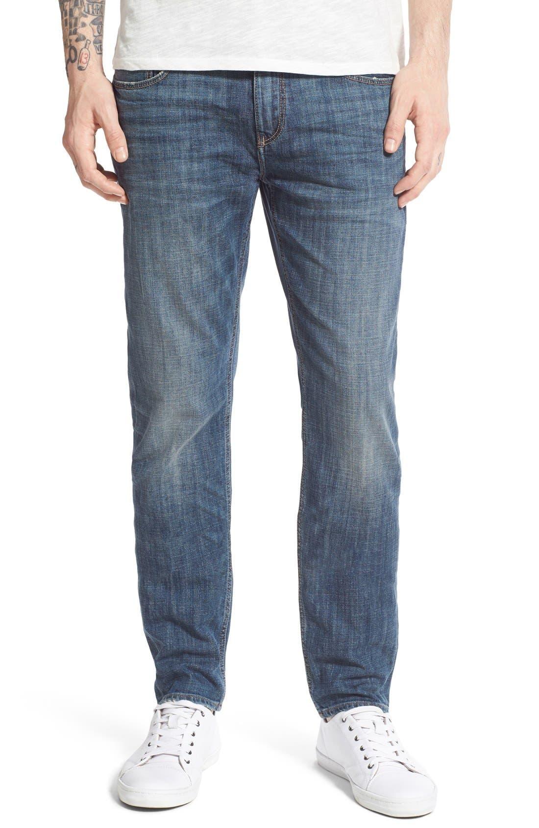 Alternate Image 1 Selected - Treasure&Bond Slim Fit Jeans (Medium Twilight Wash)