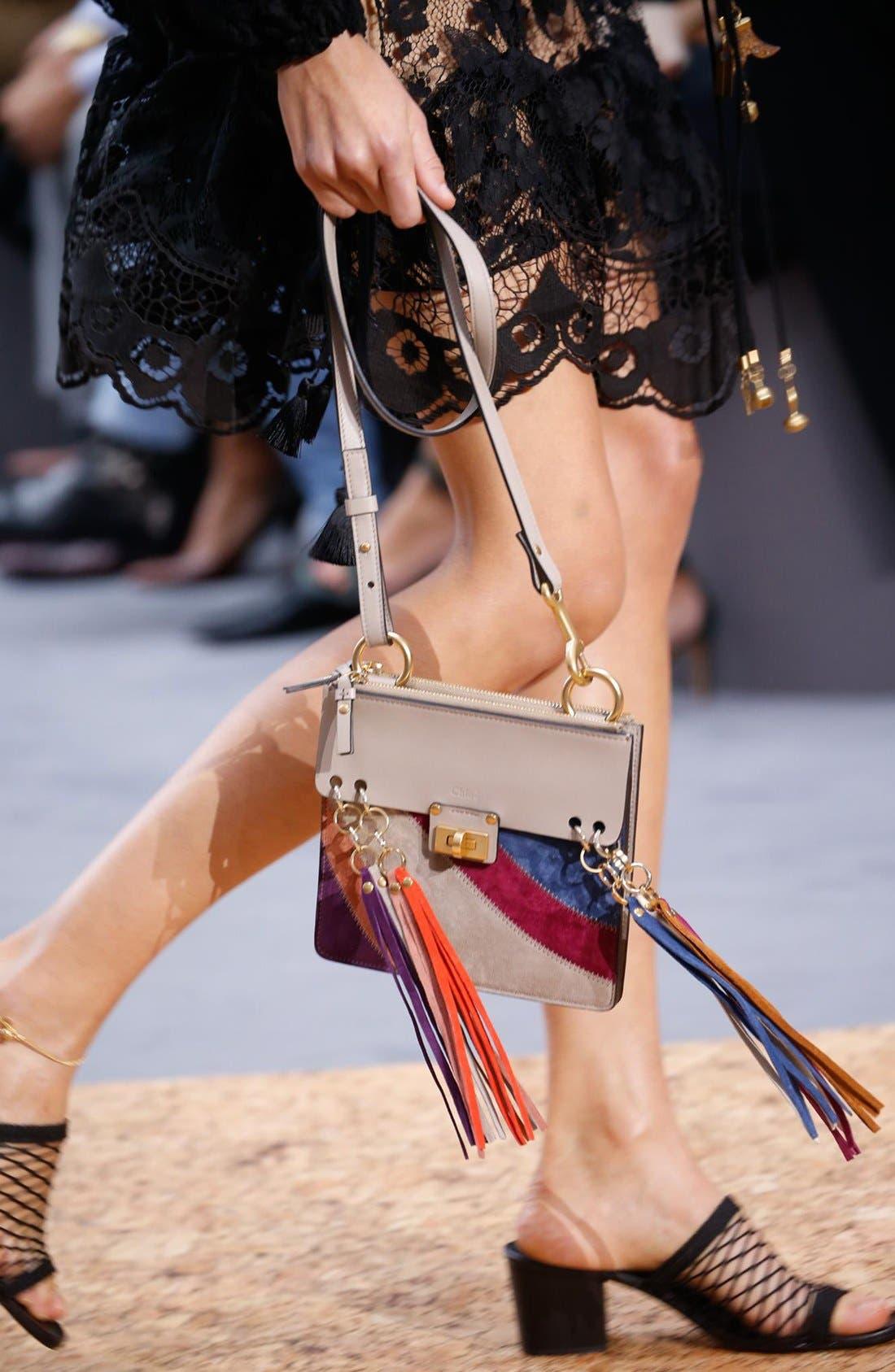 Alternate Image 2  - Chloé 'Small Jane' Suede Fringe Patchwork Leather Crossbody Bag