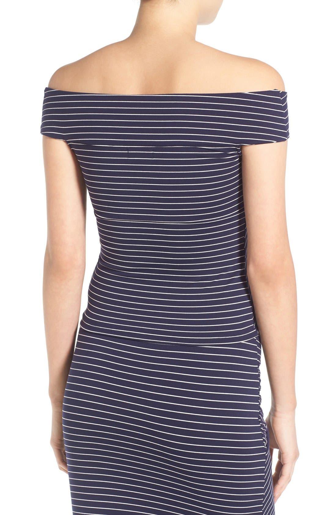 Alternate Image 3  - Leith Stripe Off the Shoulder Top