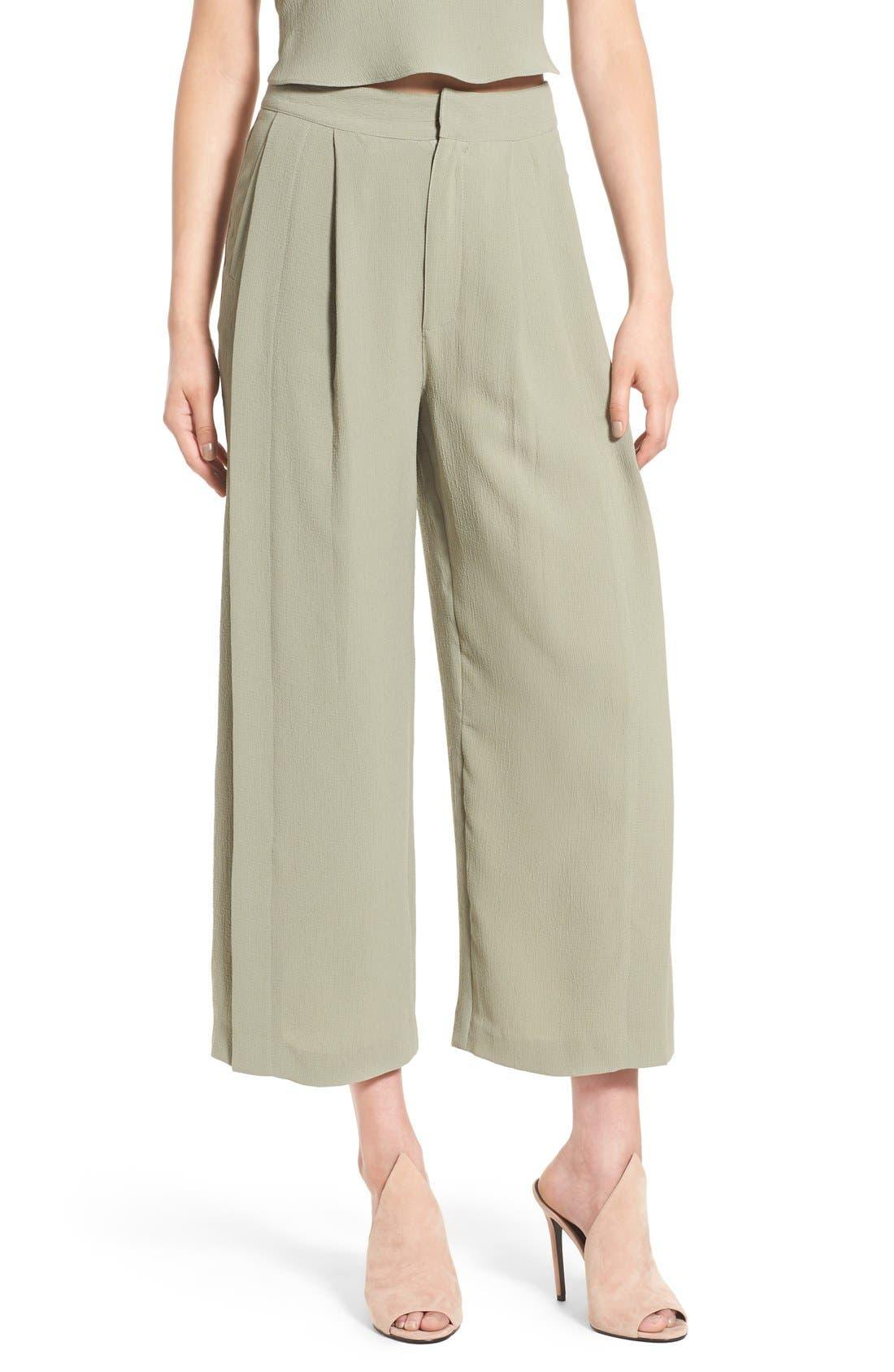Main Image - KENDALL + KYLIE High Waist Wide Leg Crop Pants