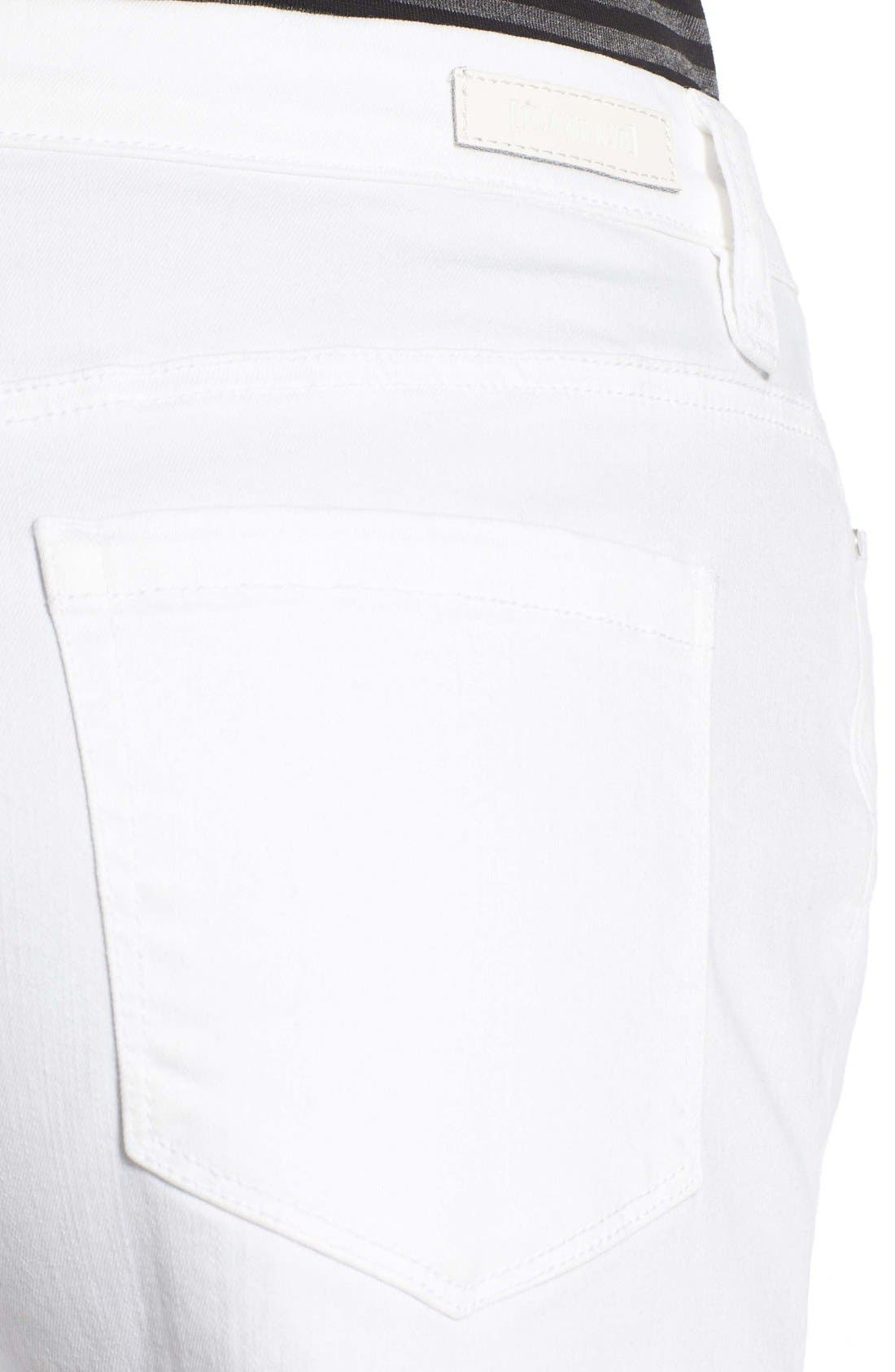 Alternate Image 5  - BLANKNYC High Rise Cutoff Denim Shorts (White Broney)