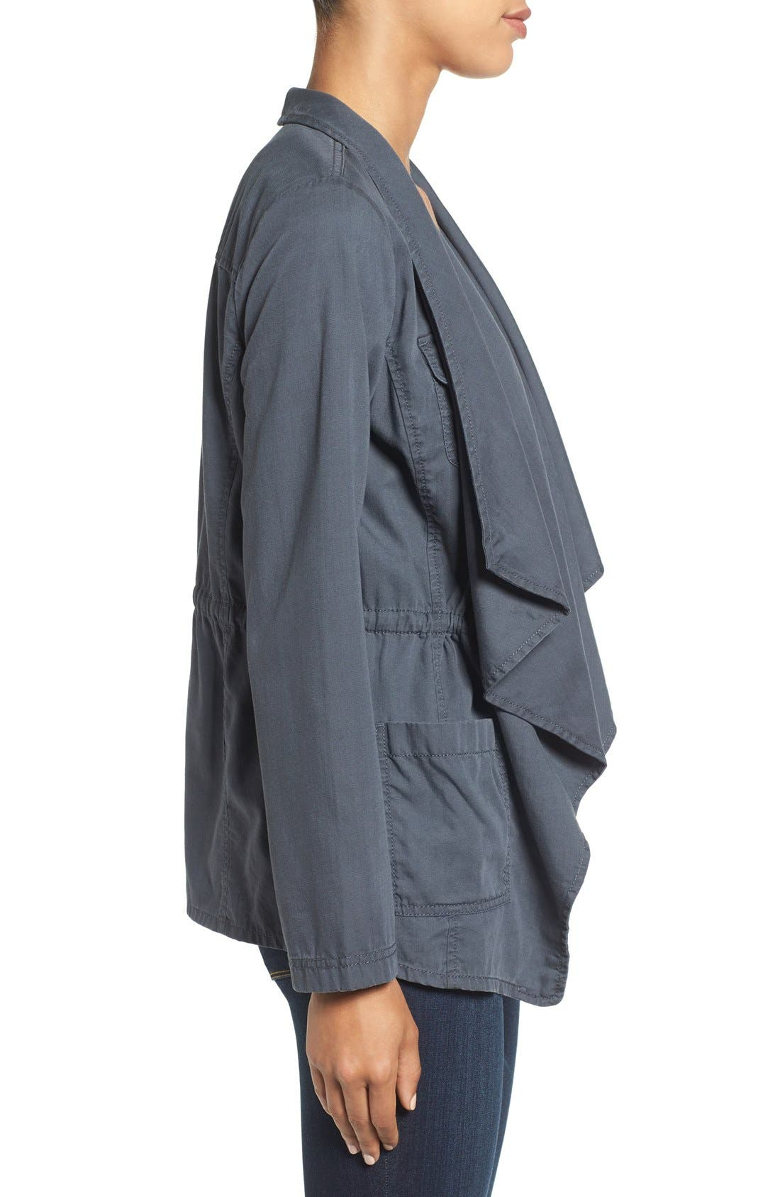 Alternate Image 3  - Caslon® Draped Utility Jacket (Regular & Petite)