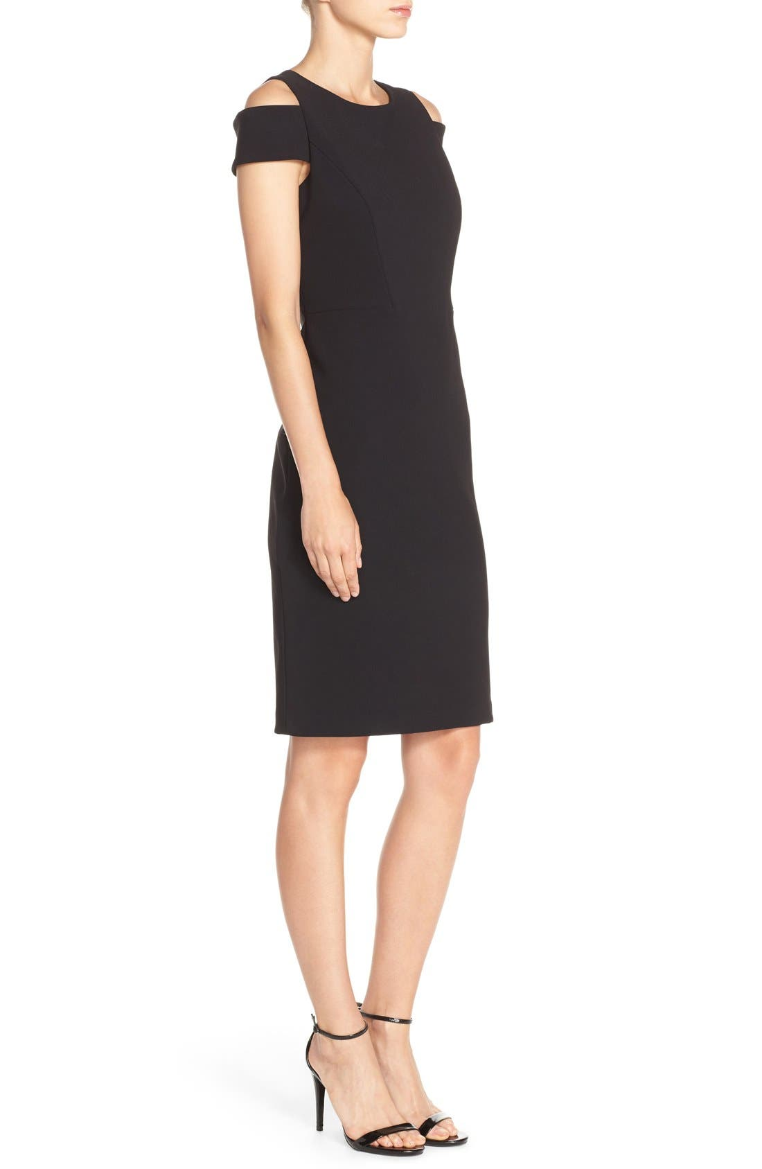 Alternate Image 3  - Vince Camuto Cold Shoulder Crepe Sheath Dress