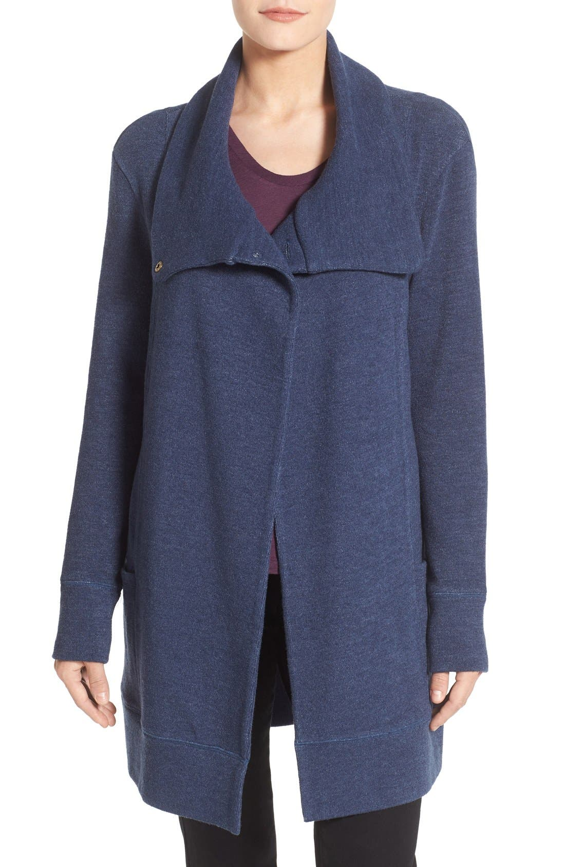 Caslon® Convertible Collar Sweater Coat (Regular & Petite)