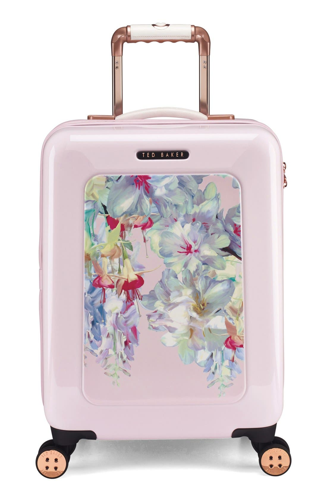Main Image - Ted Baker London Small Hanging Gardens Four Wheel Suitcase (22 Inch)