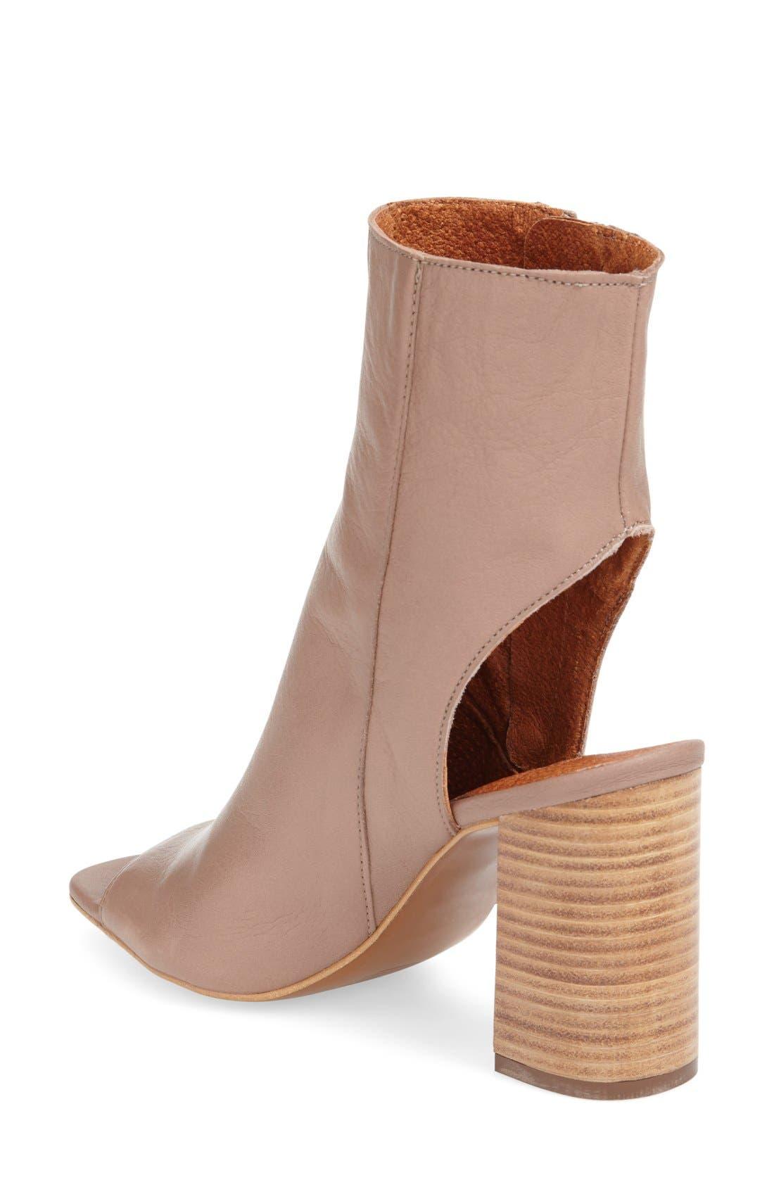 Alternate Image 2  - Topshop 'Home' Peep Toe Boot (Women)