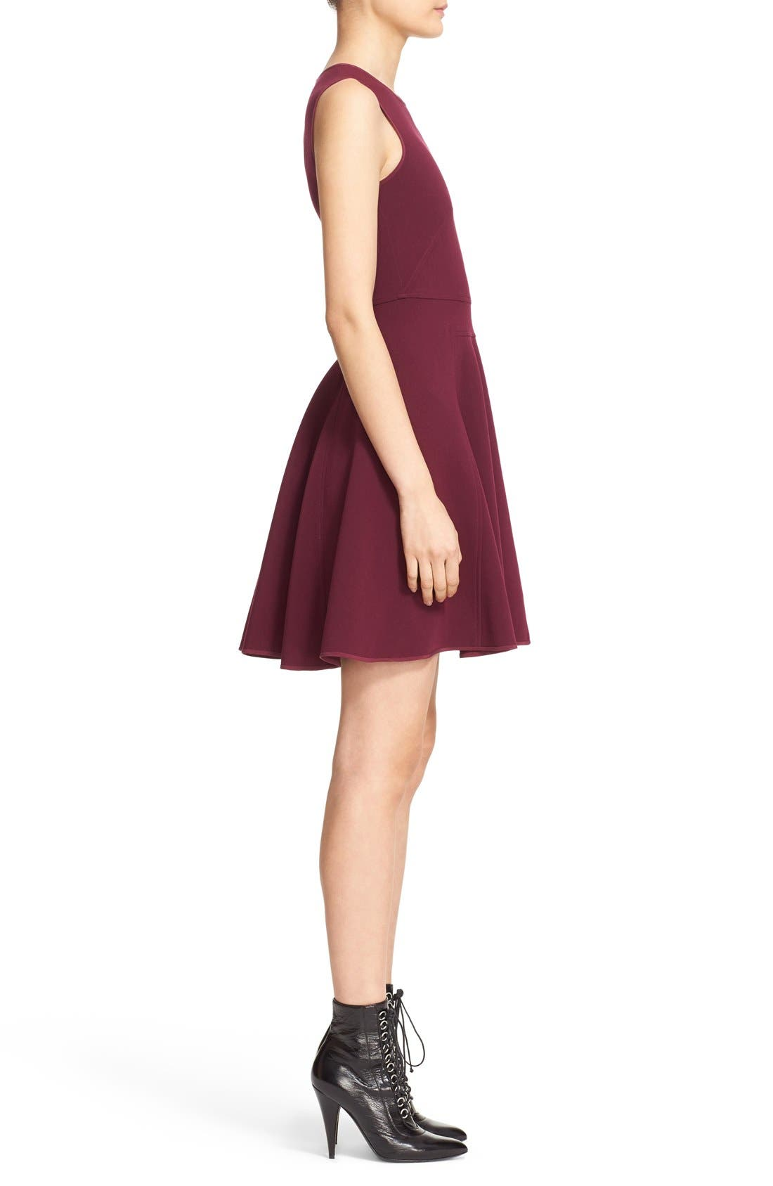 Alternate Image 3  - Rebecca Taylor Seam Detail Sleeveless Fit & Flare Dress