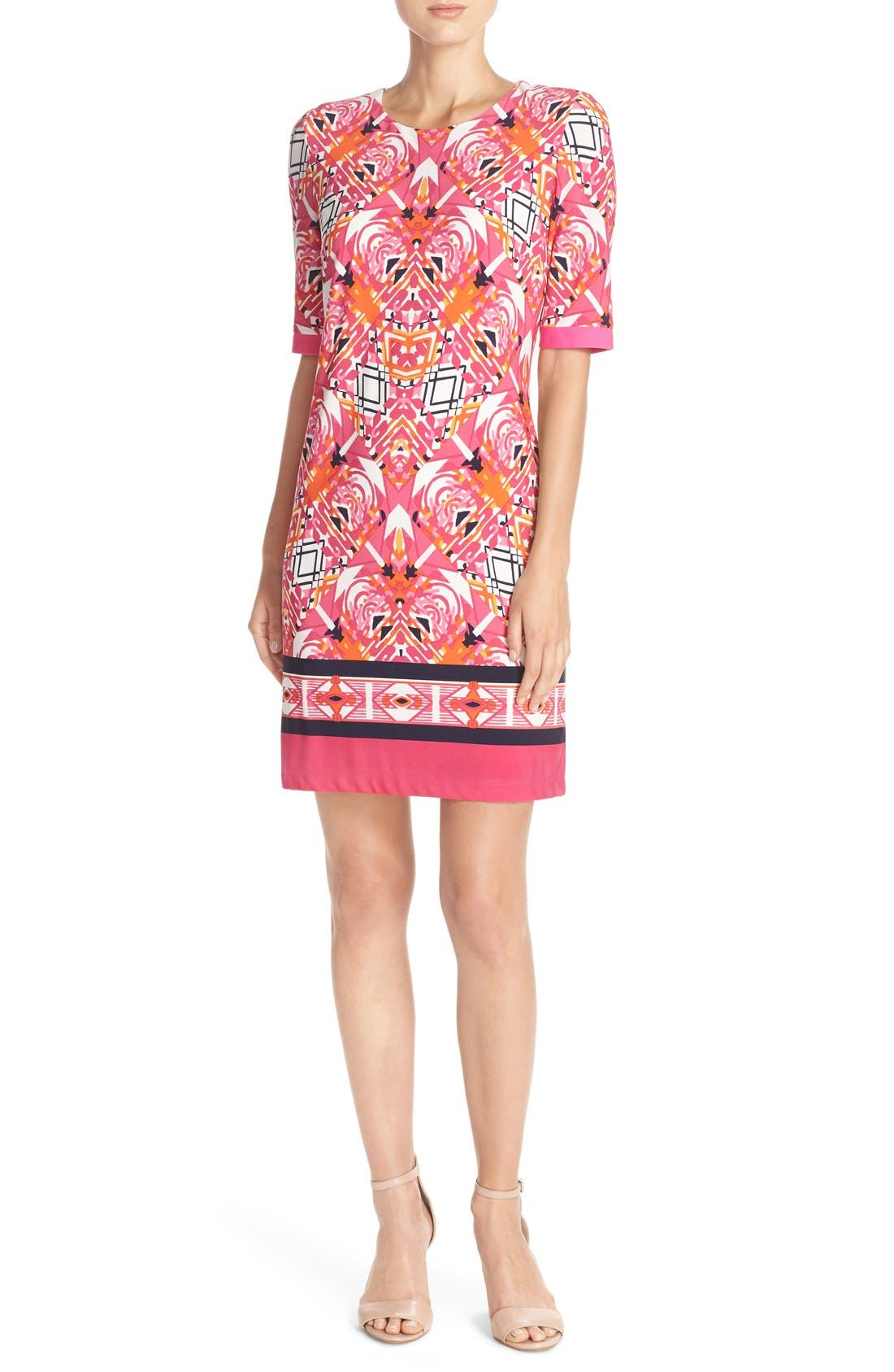 Alternate Image 4  - Eliza J Print Jersey Shift Dress (Regular & Petite)