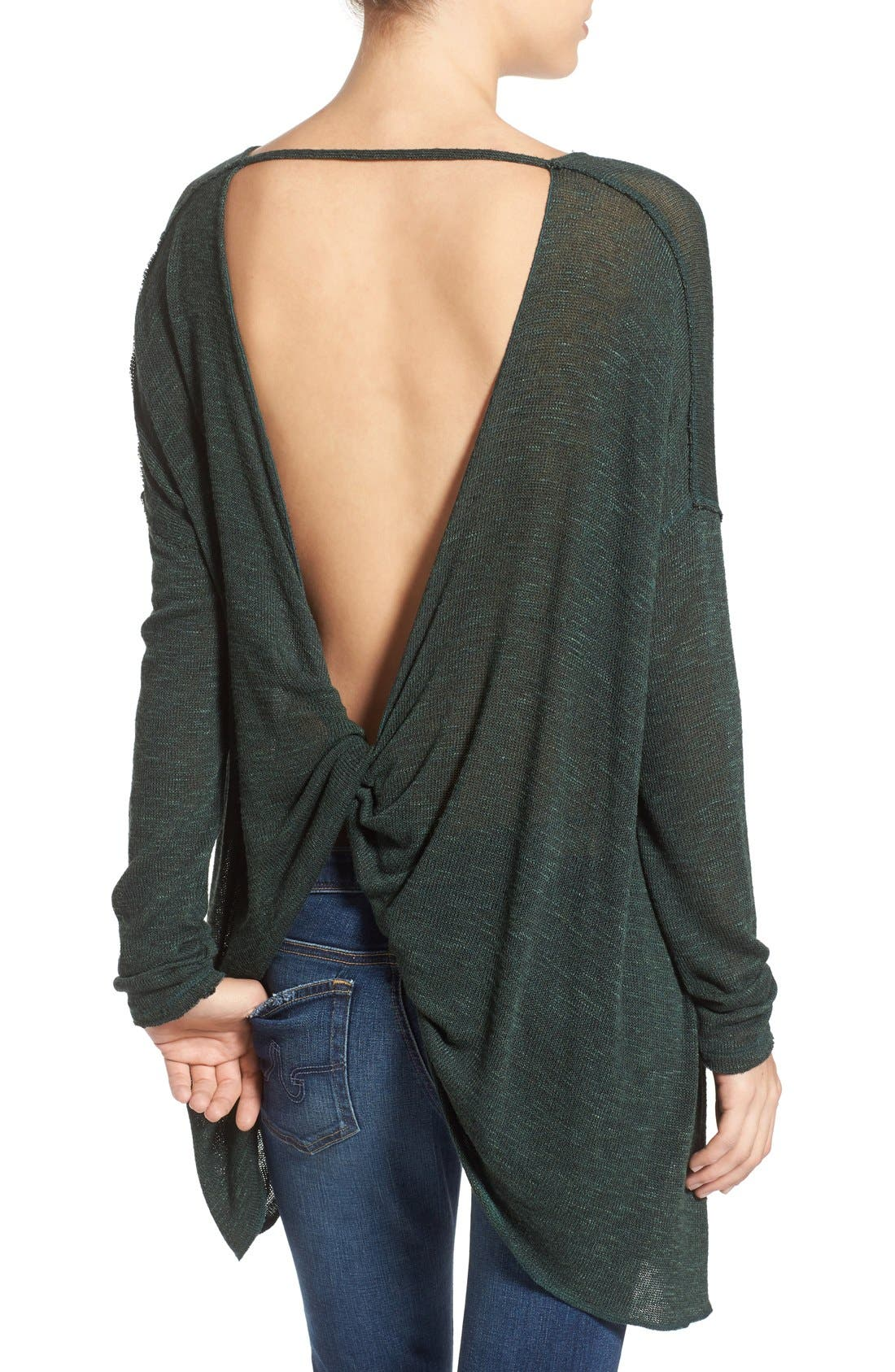 Alternate Image 2  - Free People 'Shadow' Oversize Hacci Open Back Top