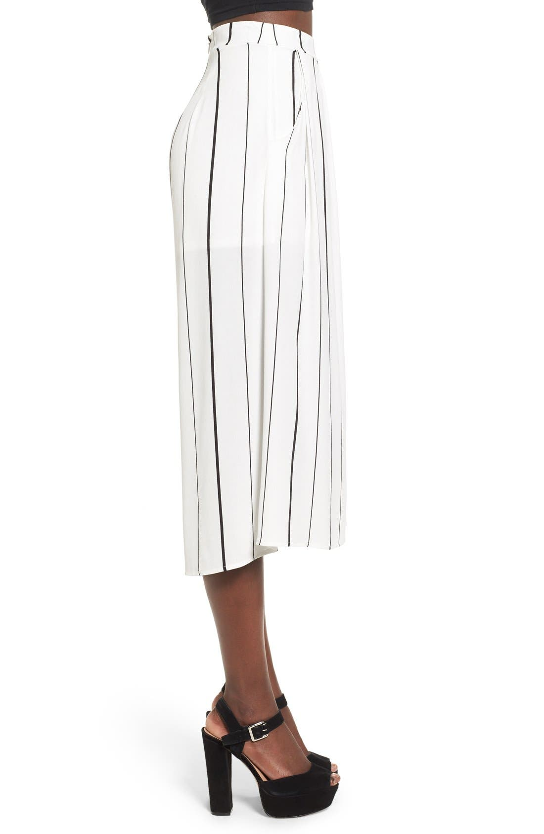Alternate Image 4  - Leith Stripe Crop Wide Leg Pants