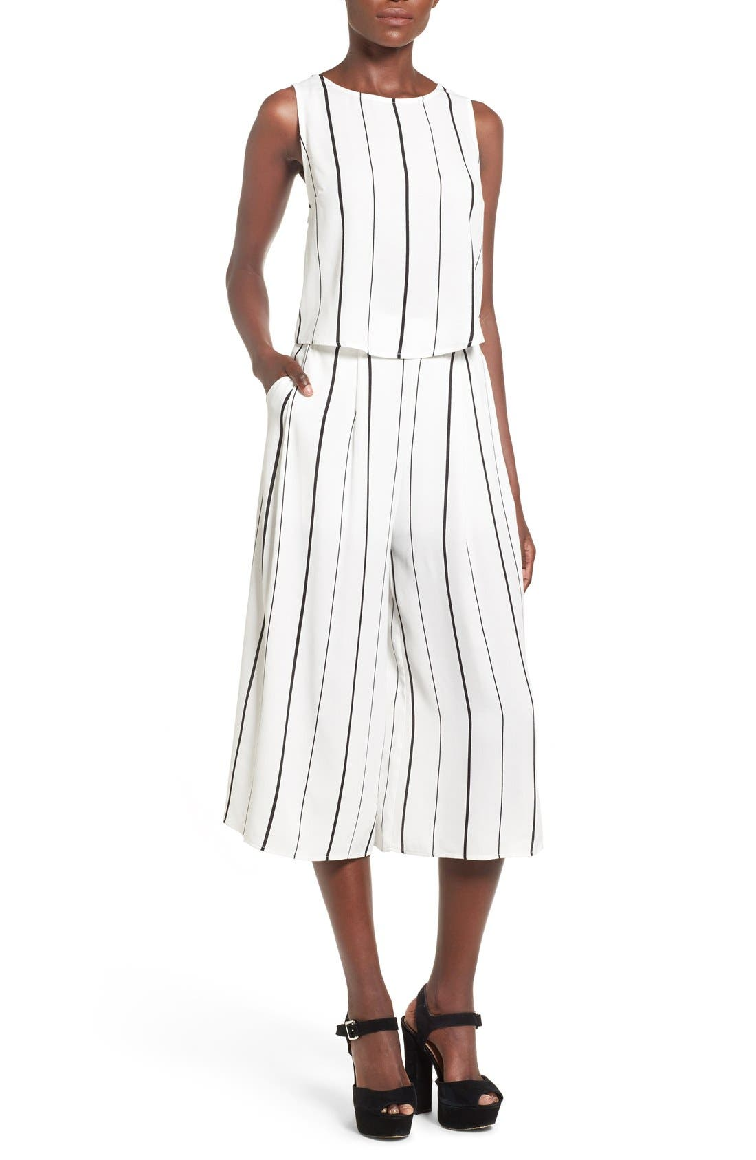 Alternate Image 2  - Leith Stripe Crop Wide Leg Pants
