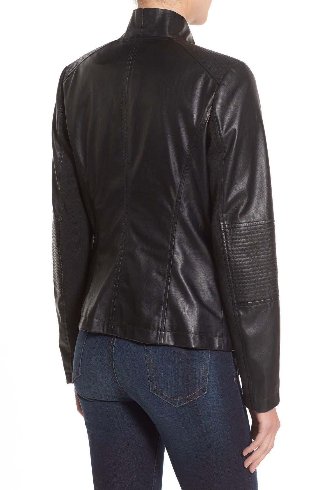 Alternate Image 2  - Levi's® Drape Front Faux Leather Jacket