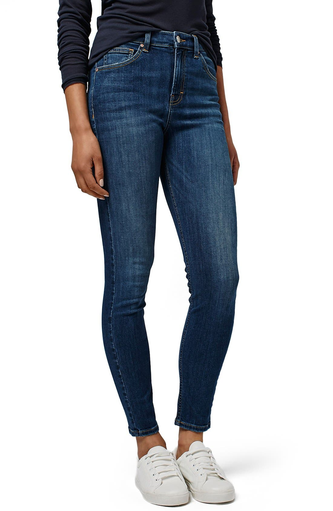 Main Image - Topshop 'Jamie' High Rise Skinny Jeans