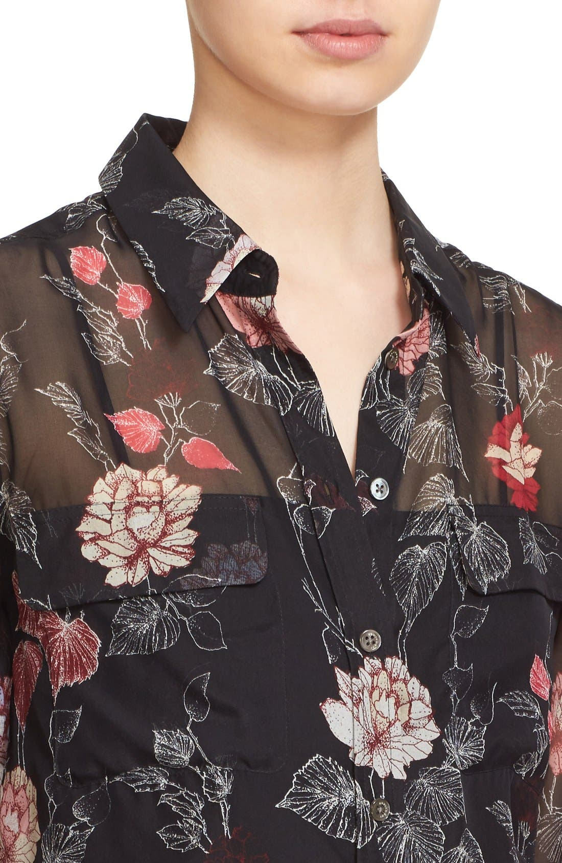 Alternate Image 4  - Equipment 'Signature' Floral Print Silk Shirt