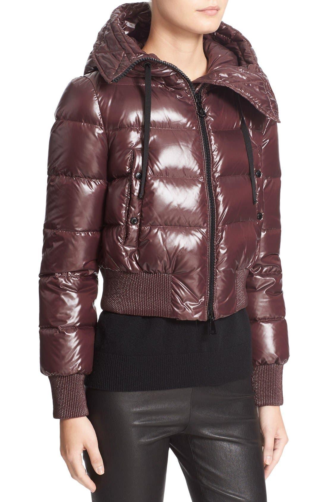 Alternate Image 6  - Moncler 'Sotiria' Water Resistant Shiny Nylon Down Bomber Jacket