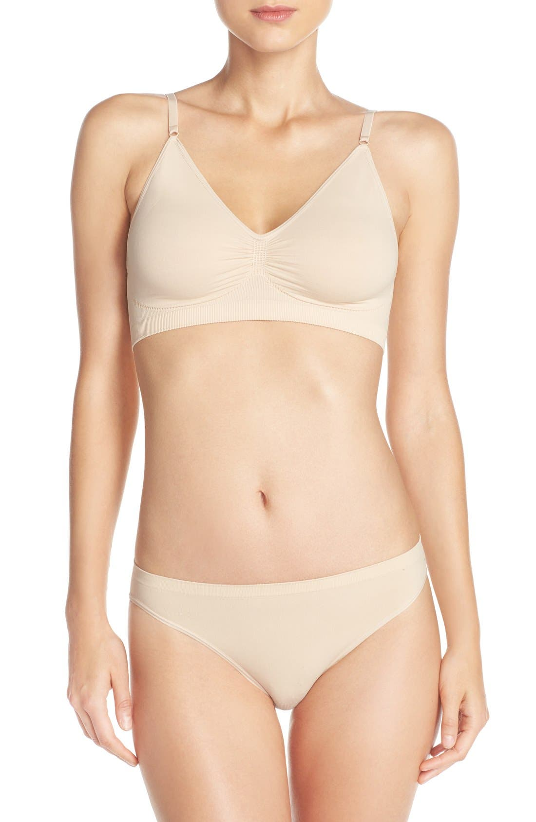 Nordstrom Lingerie Seamless Day Bra & High Cut Briefs