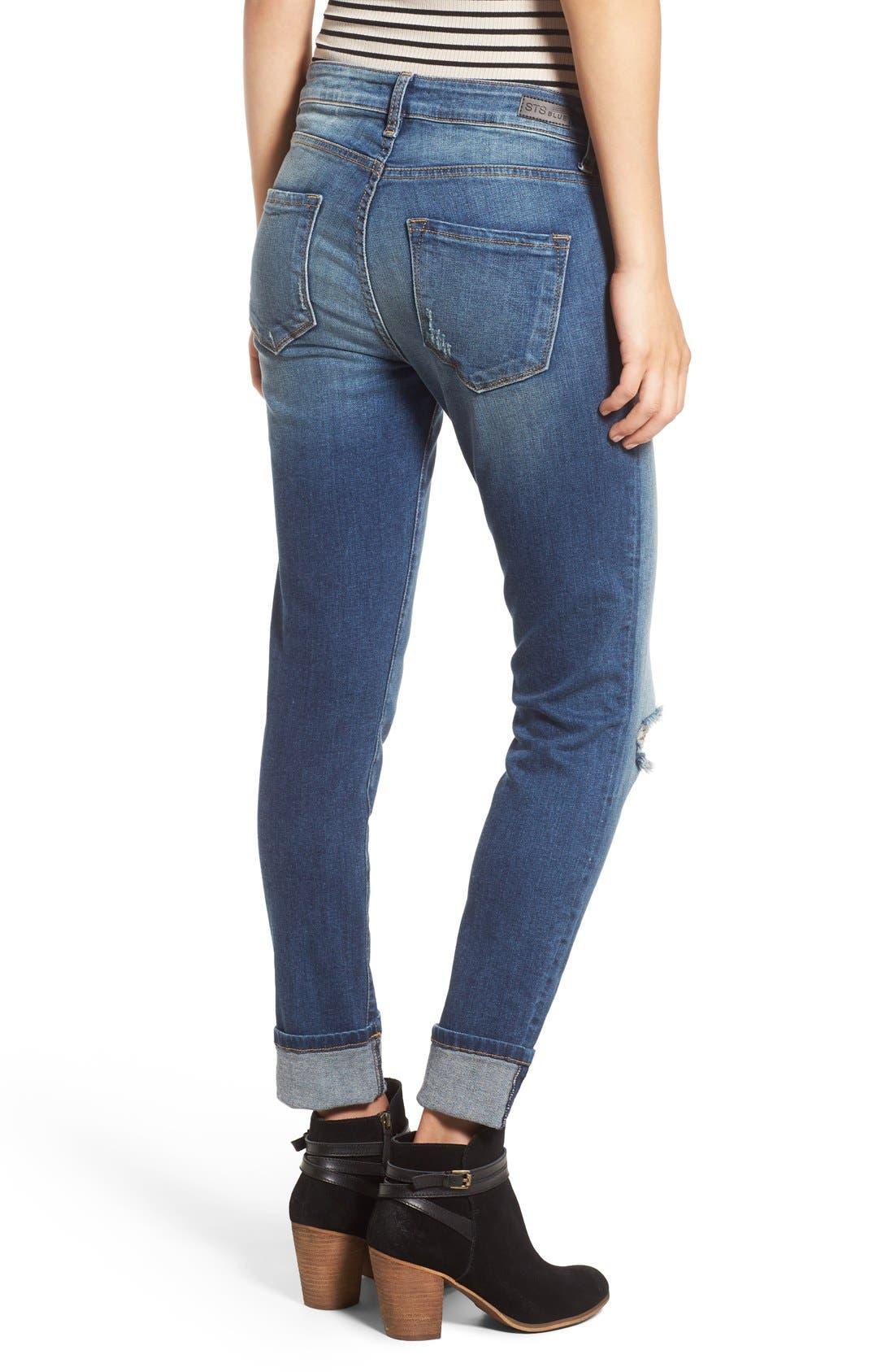 Alternate Image 2  - STS Blue 'Taylor Tomboy' Distressed Boyfriend Jeans (West San Clement)