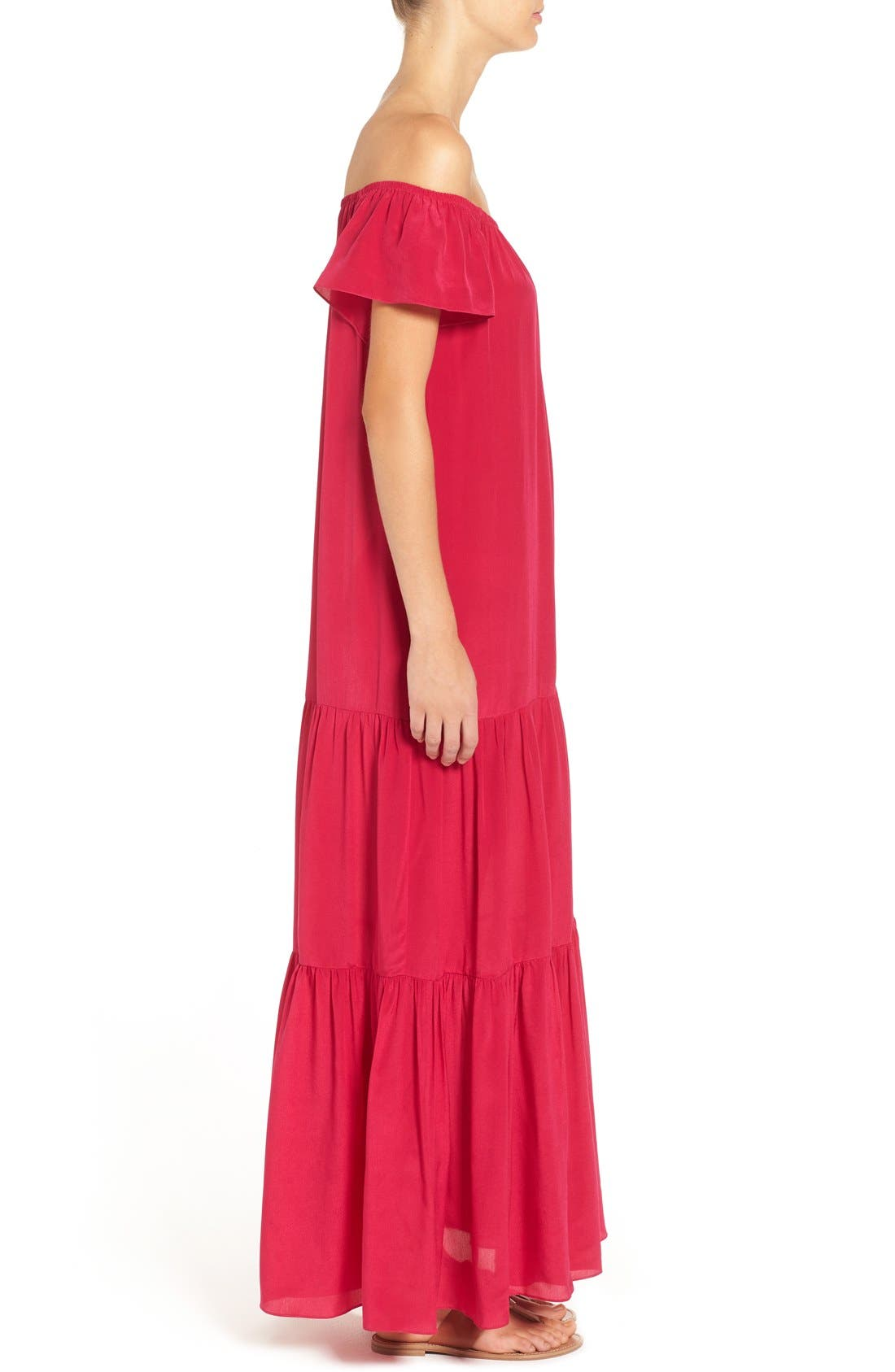 Alternate Image 5  - Soler 'Thalia' Off the Shoulder Silk Maxi Dress