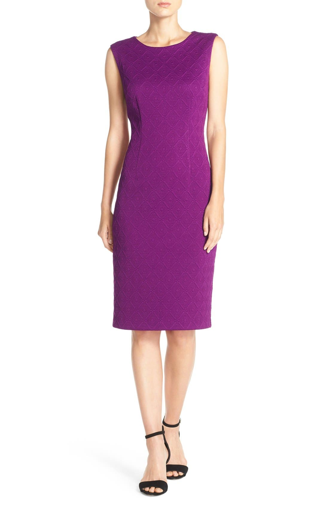 Alternate Image 4  - Betsey Johnson Textured Knit Sheath Dress