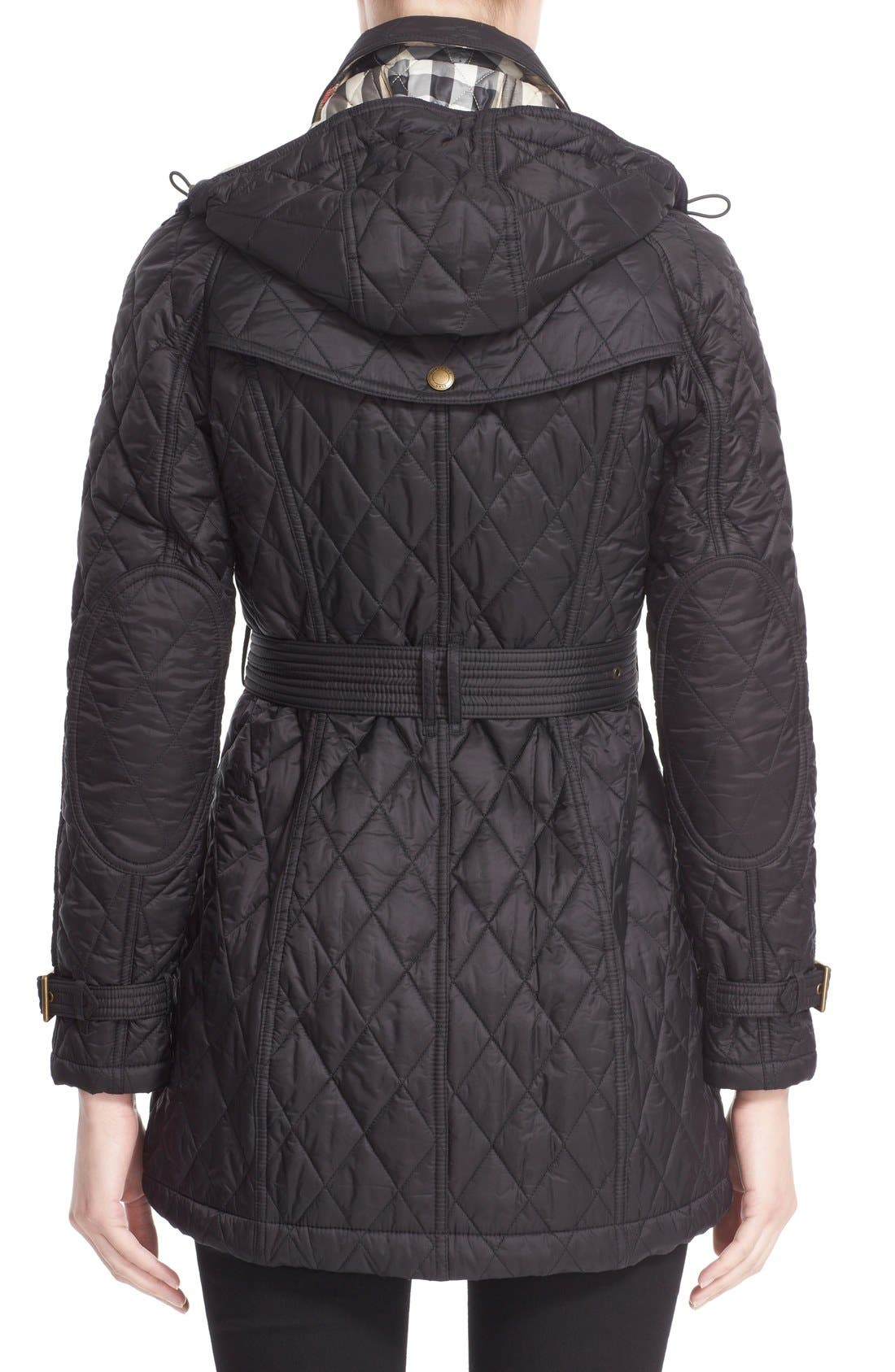 Alternate Image 2  - Burberry Finsbridge Belted Quilted Jacket