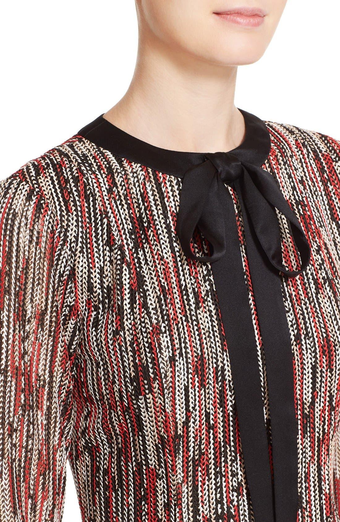 Alternate Image 4  - Alice + Olivia 'Gwyneth' Print Tie Neck Fit & Flare Dress