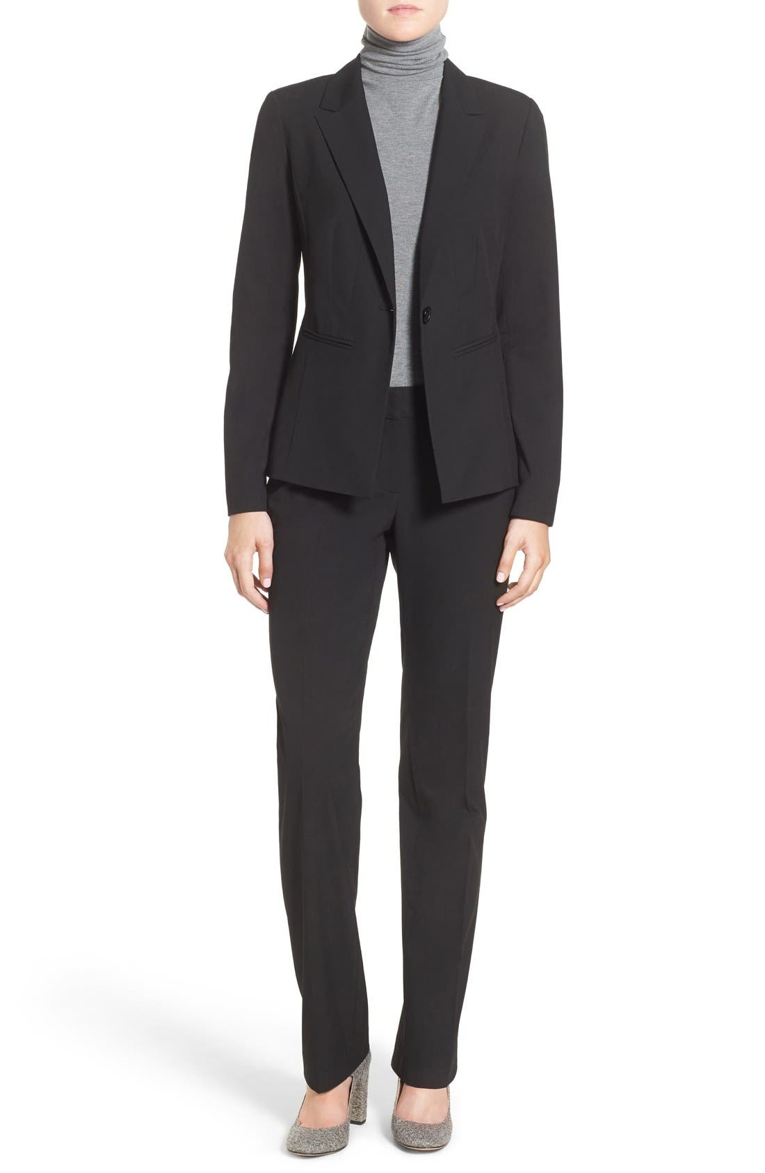 Alternate Image 2  - Halogen® 'Taylor - Ela' Straight Leg Suit Pants (Regular & Petite)