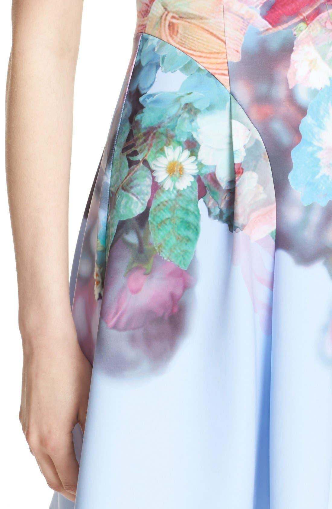 Alternate Image 4  - Ted Baker London 'Bowkay' Floral Print Neoprene Skater Dress