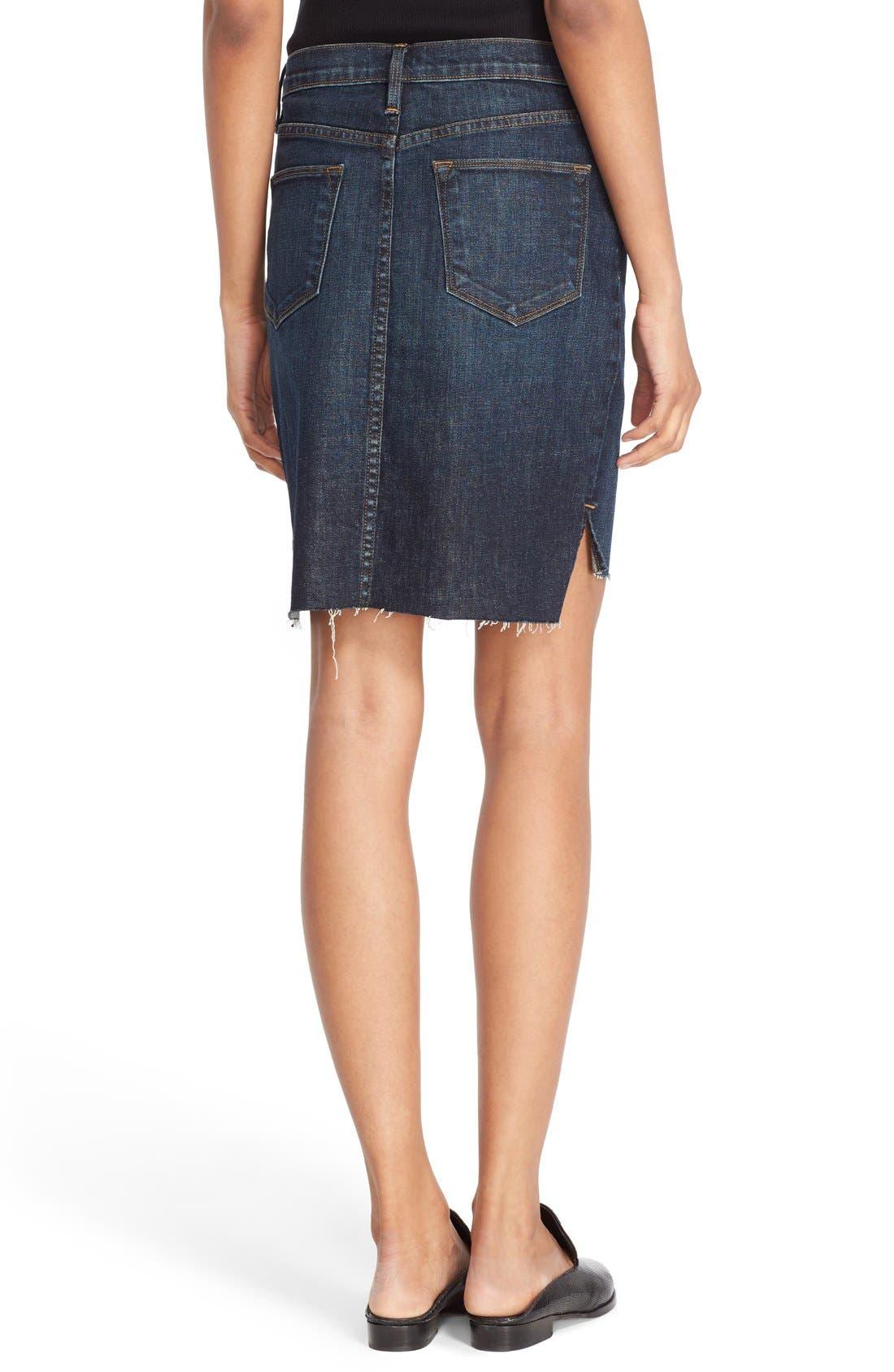 Alternate Image 3  - FRAME High Rise Denim Miniskirt (Catamaran)