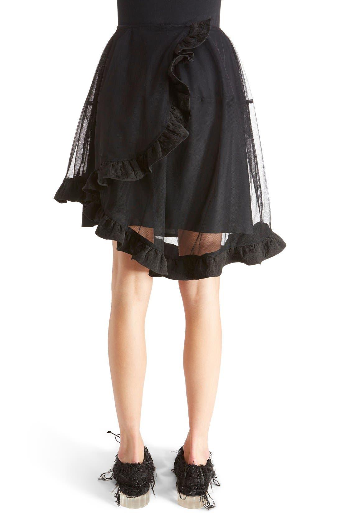 Alternate Image 2  - Simone Rocha Brocade Trim Tulle Skirt