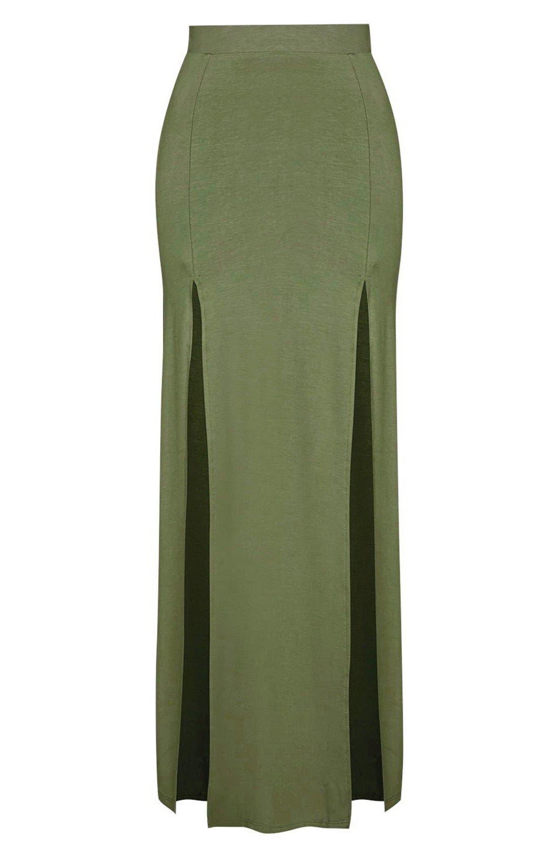 Alternate Image 4  - Topshop Double Slit Maxi Skirt