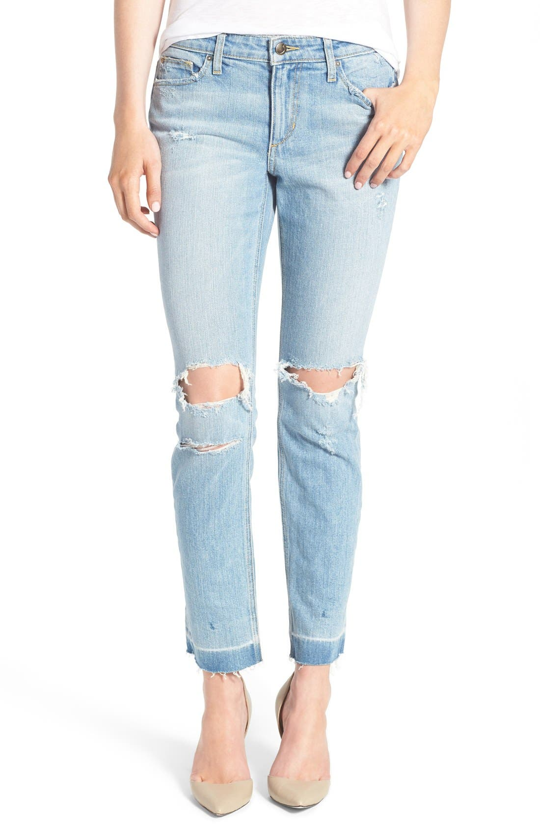 Main Image - Joe's 'Icon' Destroyed Ankle Jeans (Margie)