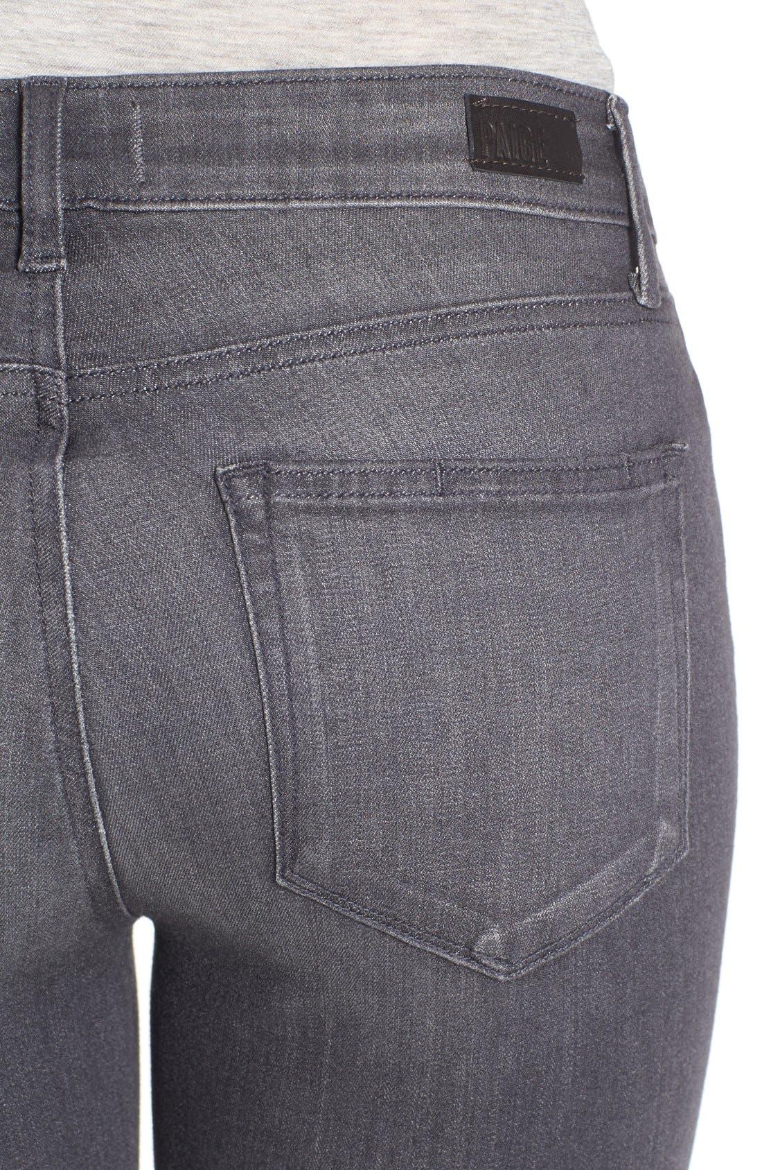 Alternate Image 4  - PAIGE Transcend - Verdugo Ankle Jeans (Bonnie Grey) (Nordstrom Exclusive)