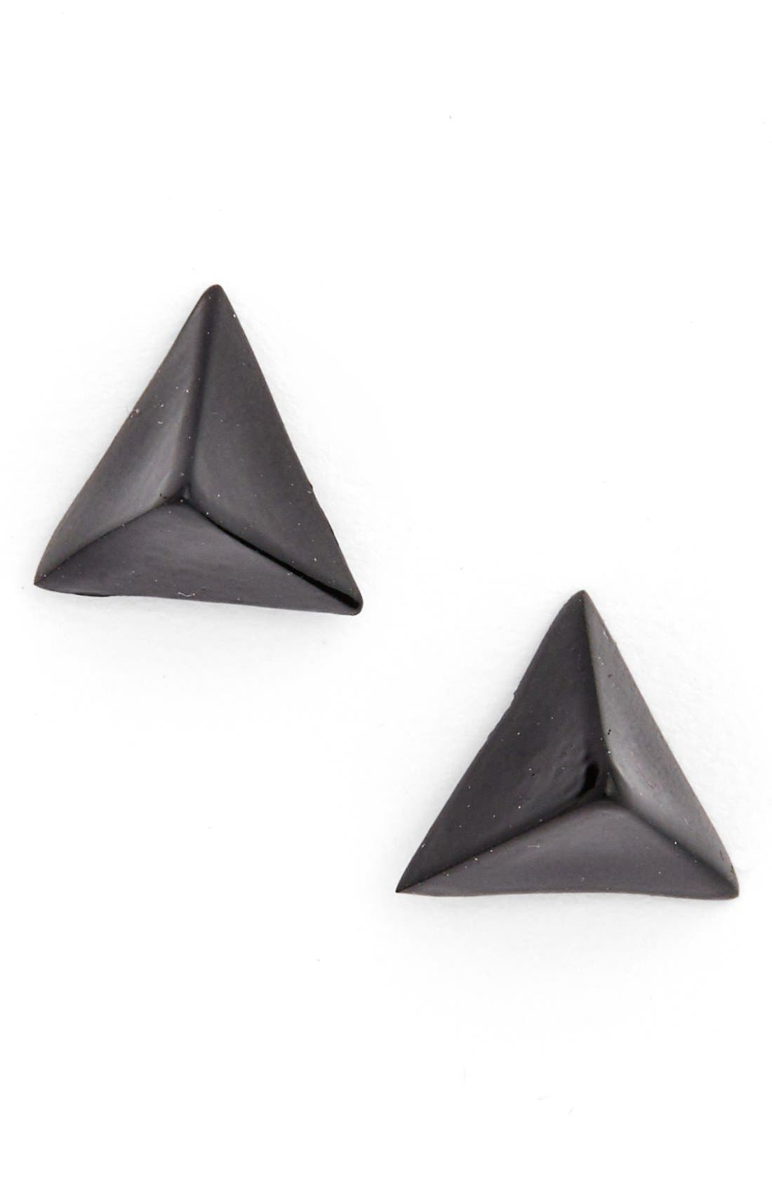 Alternate Image 1 Selected - Cara Triangle Stud Earring