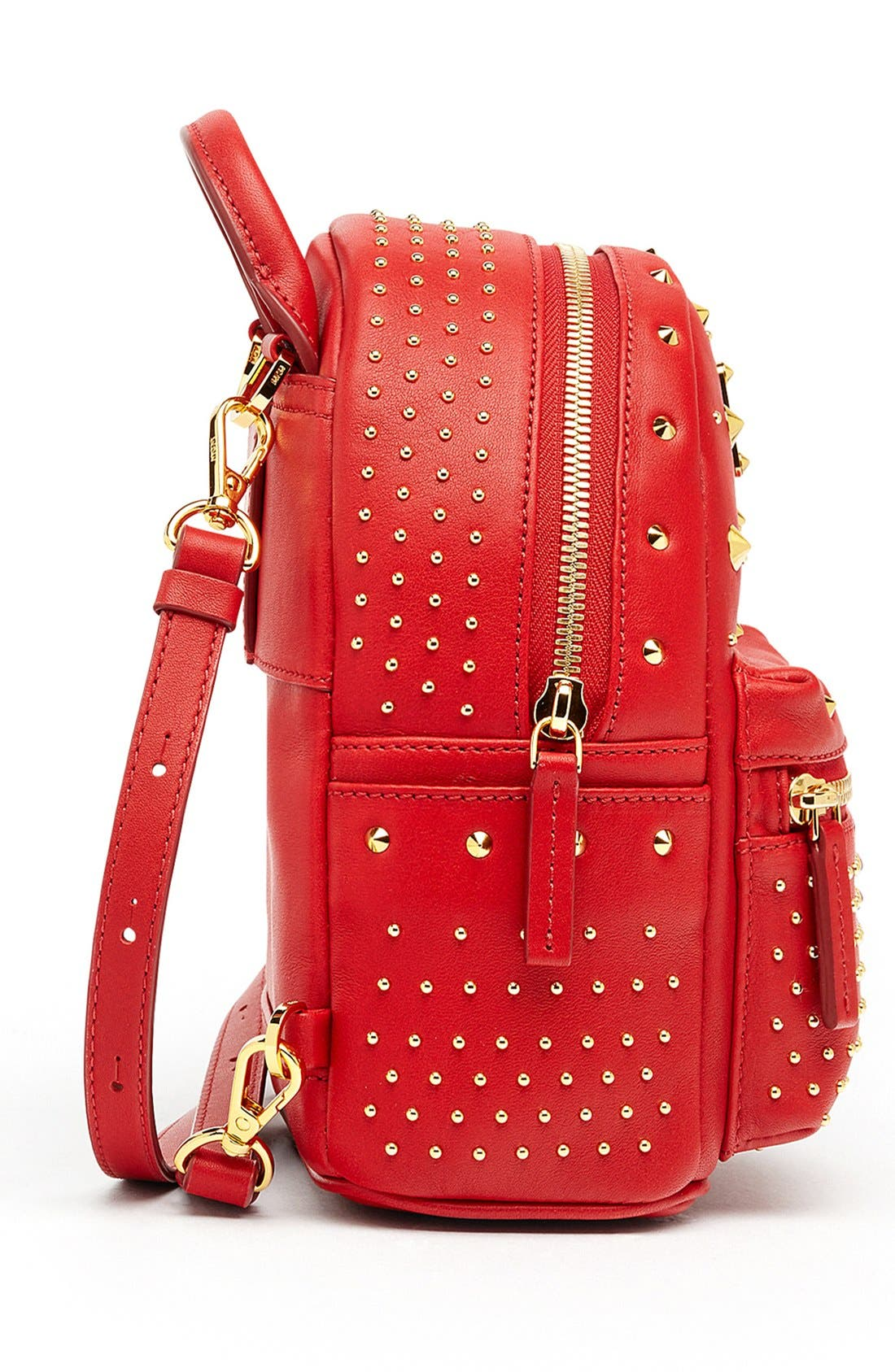 Alternate Image 5  - MCM 'X Mini Stark - Bebe Boo' Studded Leather Backpack