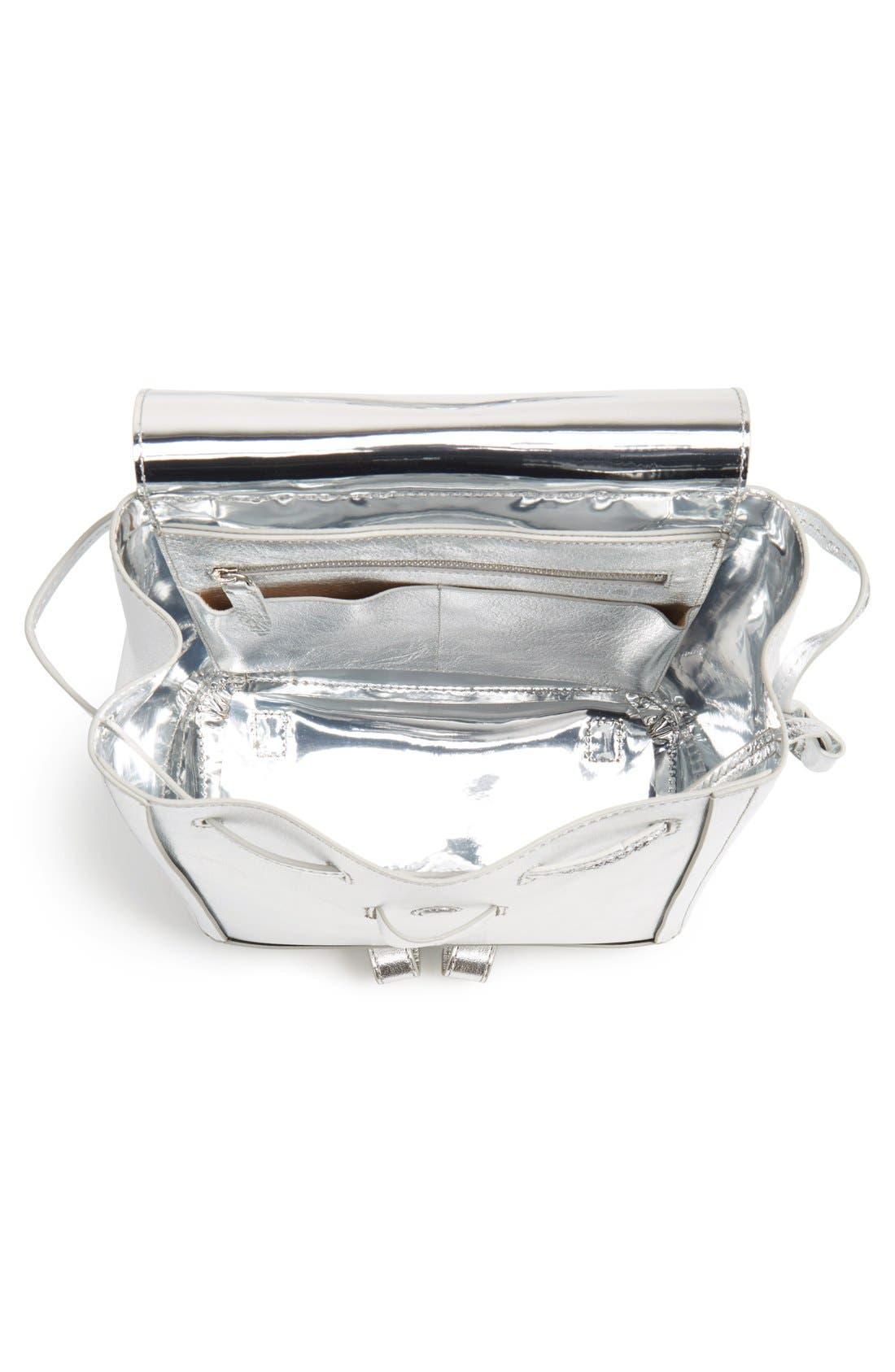 Alternate Image 4  - Loeffler Randall Mini Metallic Leather Backpack